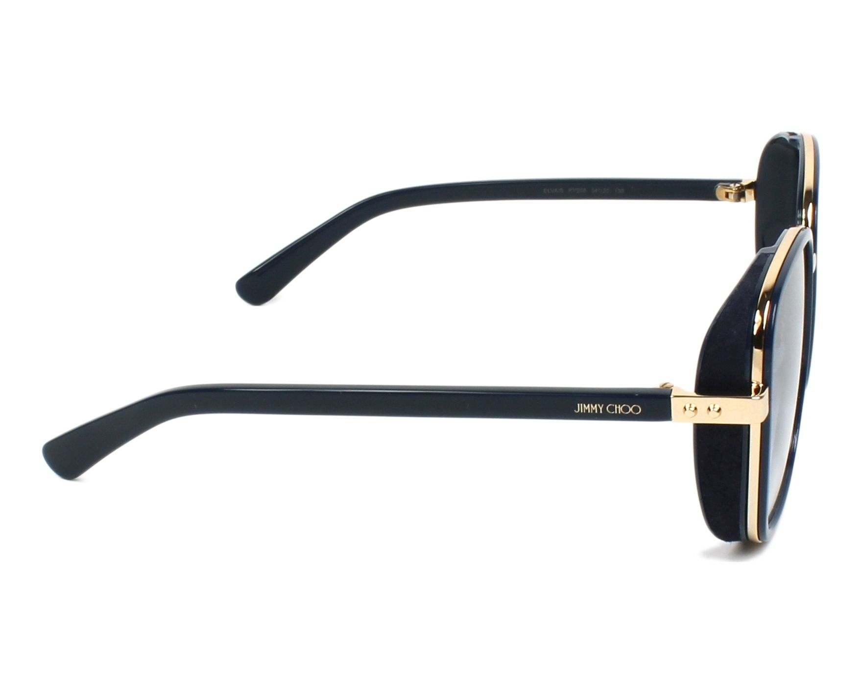 7d0d5c16d9c3 thumbnail Sunglasses Jimmy Choo ELVA-S KY2 08 - Blue Gold side view