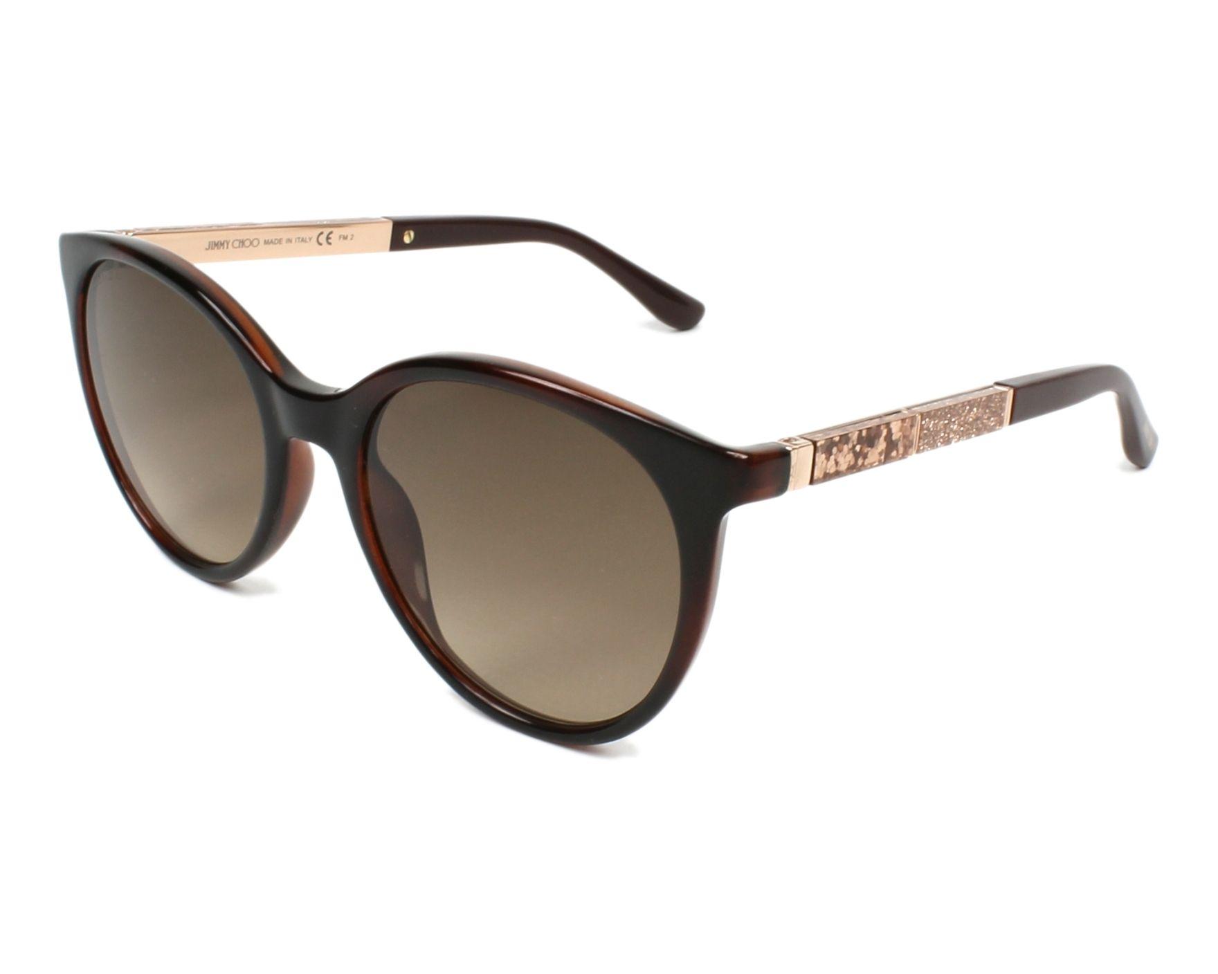 1576c226e2ef Sunglasses Jimmy Choo ERIE-S 9N4 HA 54-20 Havana Gold Copper profile