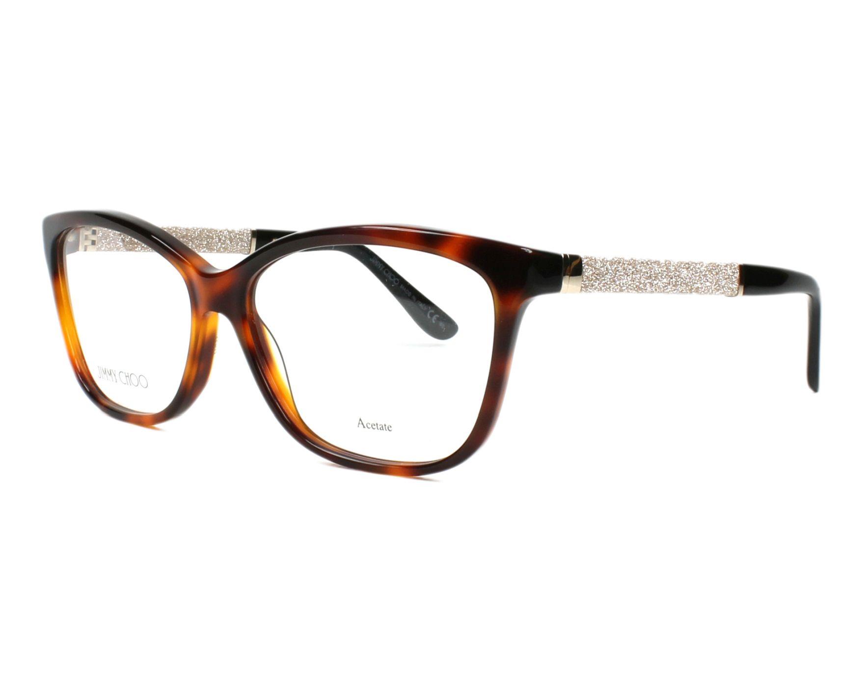9681dc0cb26 eyeglasses Jimmy Choo JC-105 INN - Havana Silver profile view