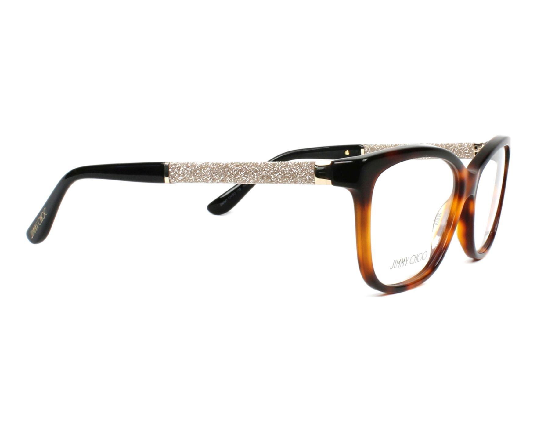 d801a0fe7ea eyeglasses Jimmy Choo JC-105 INN - Havana Silver side view
