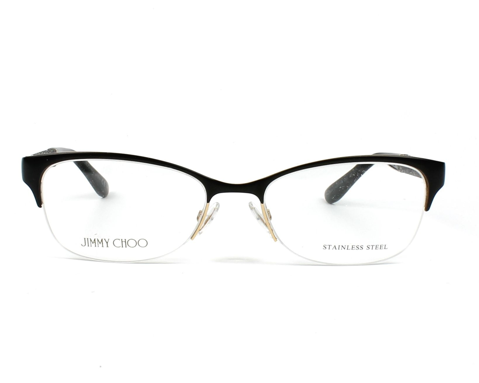 85210636411e eyeglasses Jimmy Choo JC-106 LVC - Black Grey front view