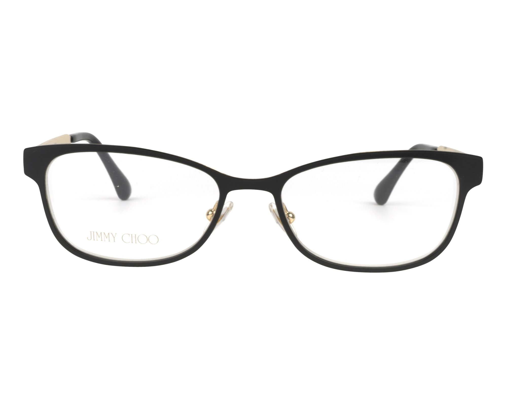 18e40f39e00 eyeglasses Jimmy Choo JC-203 003 - Black Gold front view