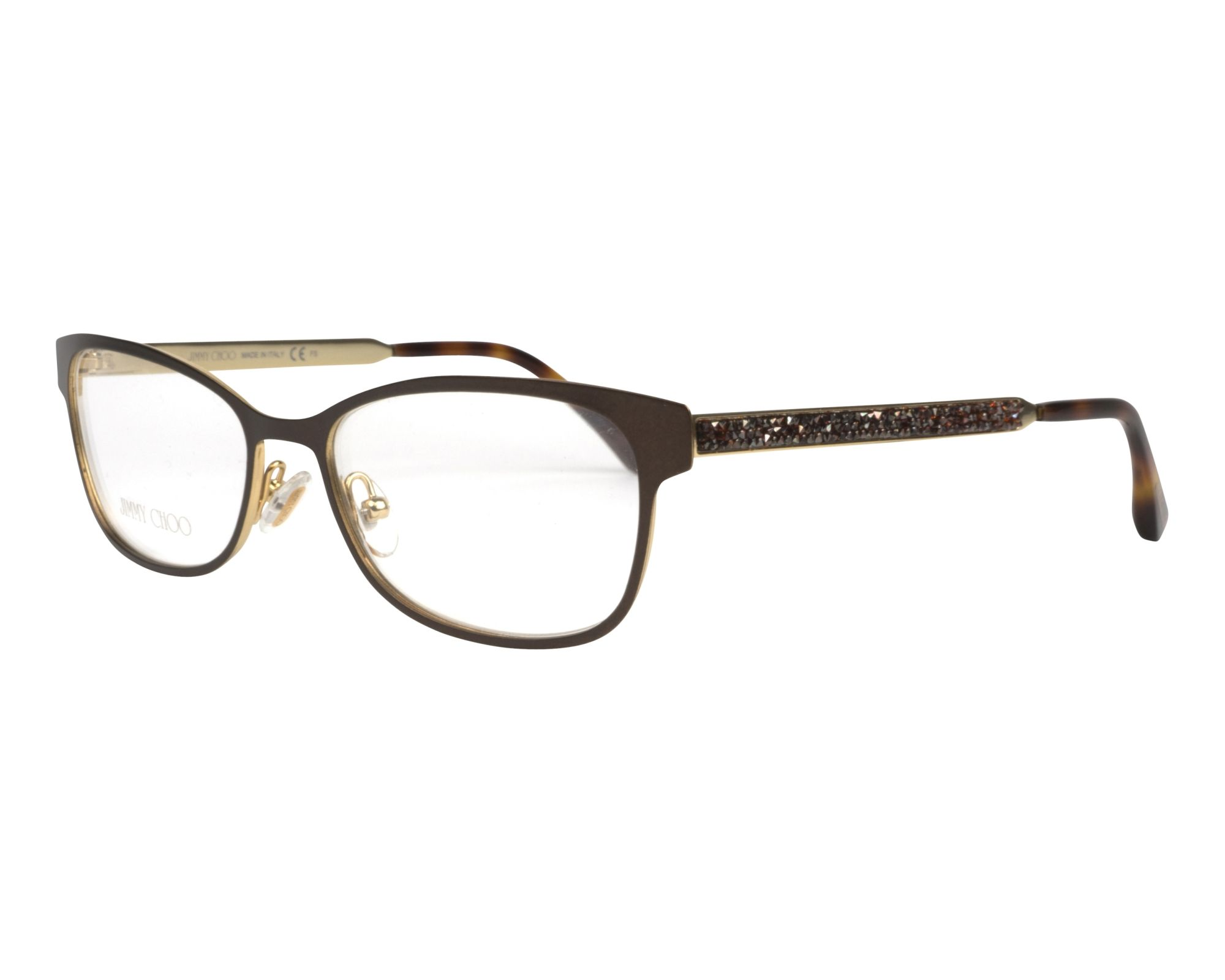 d732f7cac37 eyeglasses Jimmy Choo JC-203 4IN 52-16 Brown Gold profile view
