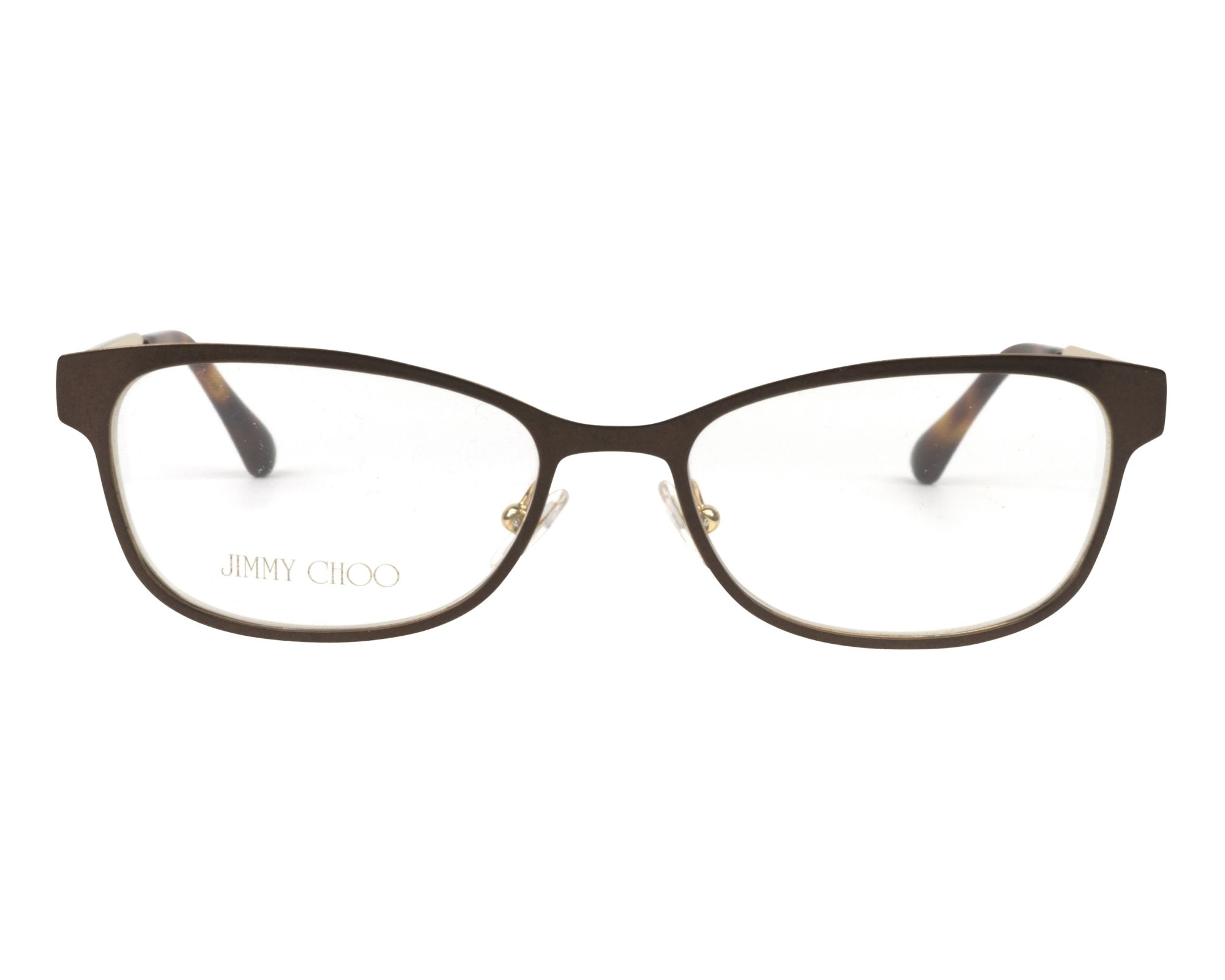 9a1fdc51f4a eyeglasses Jimmy Choo JC-203 4IN 52-16 Brown Gold front view