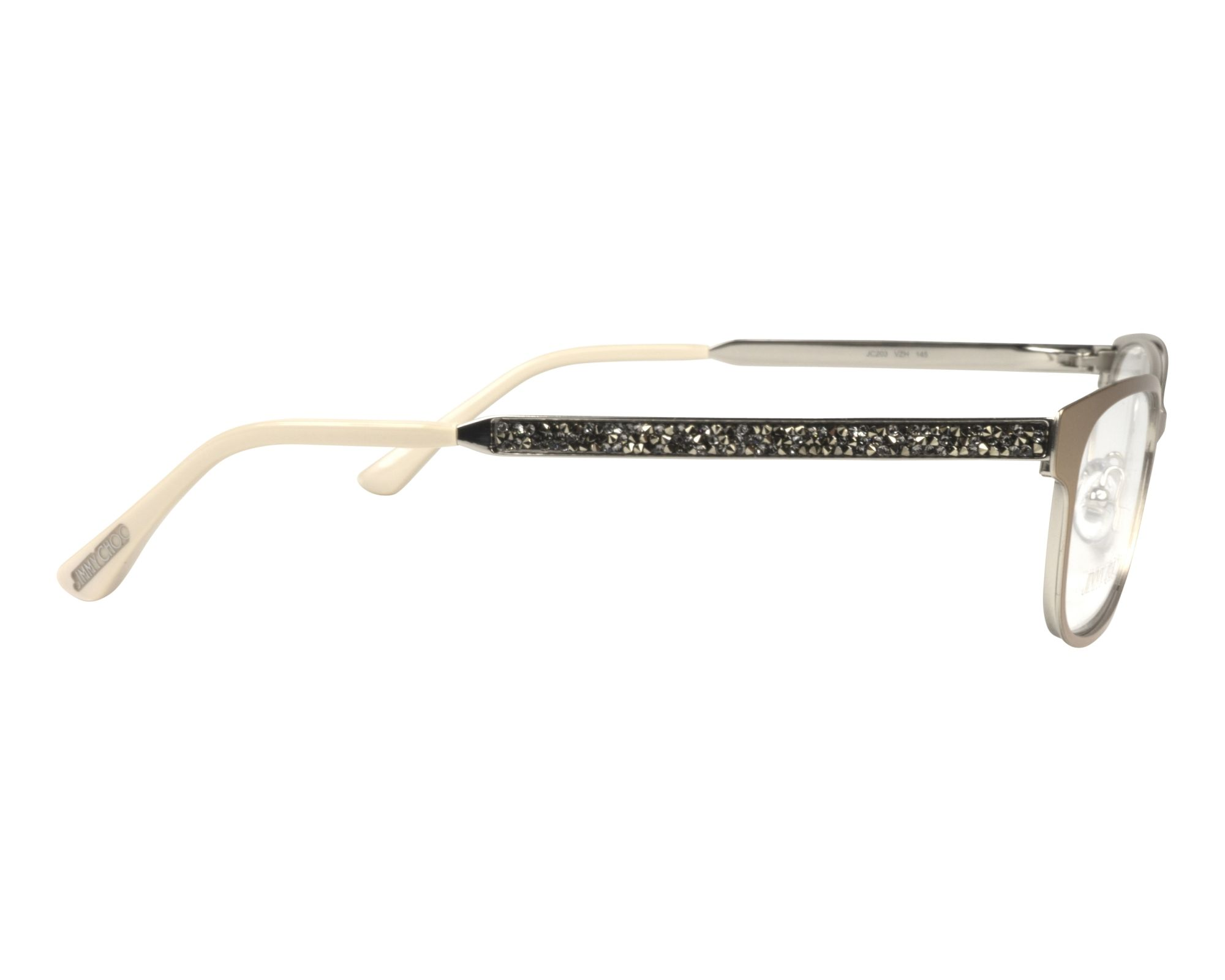 2d56d54d3fc eyeglasses Jimmy Choo JC-203 VZH 52-16 Brass Silver side view