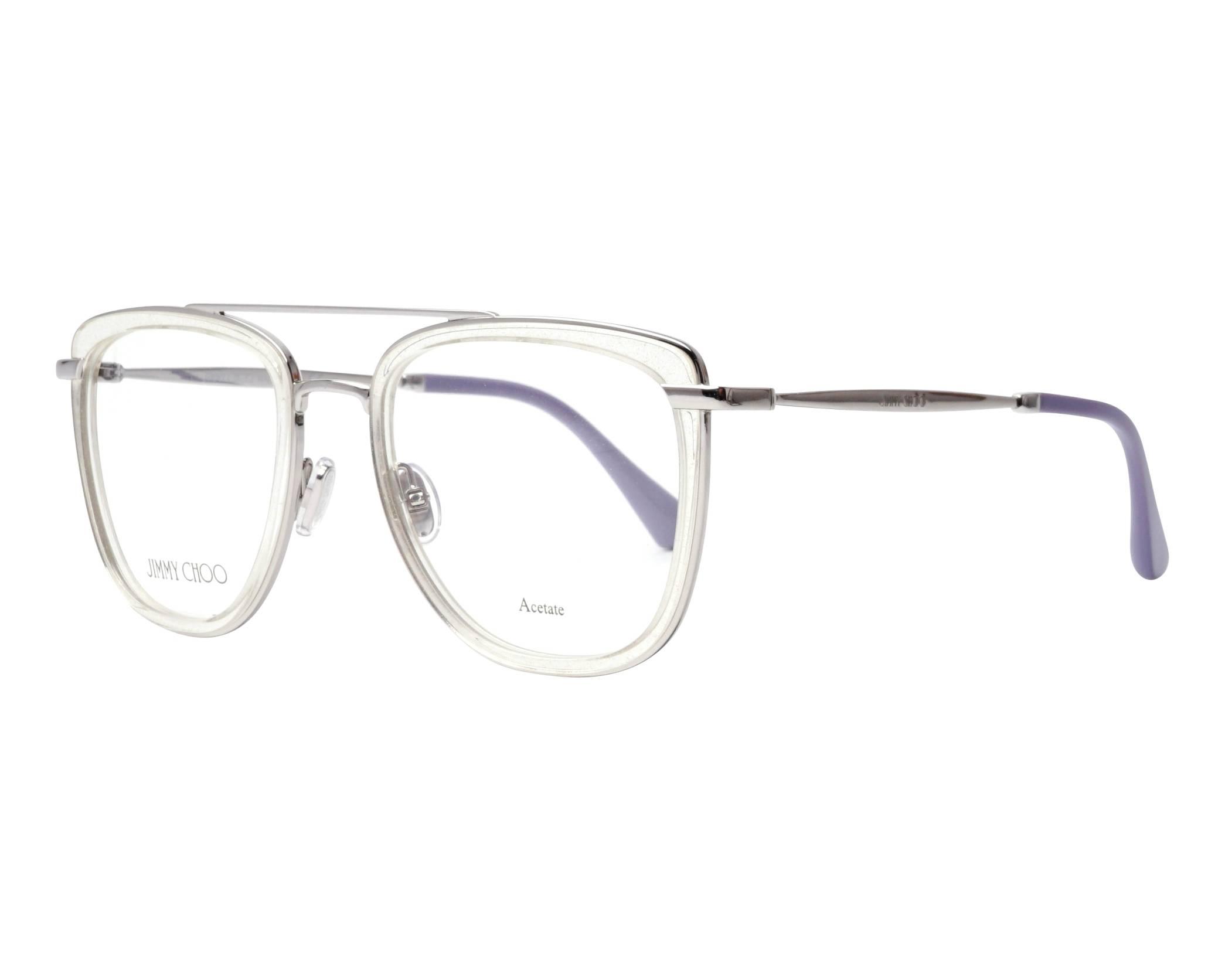 60869a7e55b4 eyeglasses Jimmy Choo JC-219 900 52-20 Crystal Silver profile view