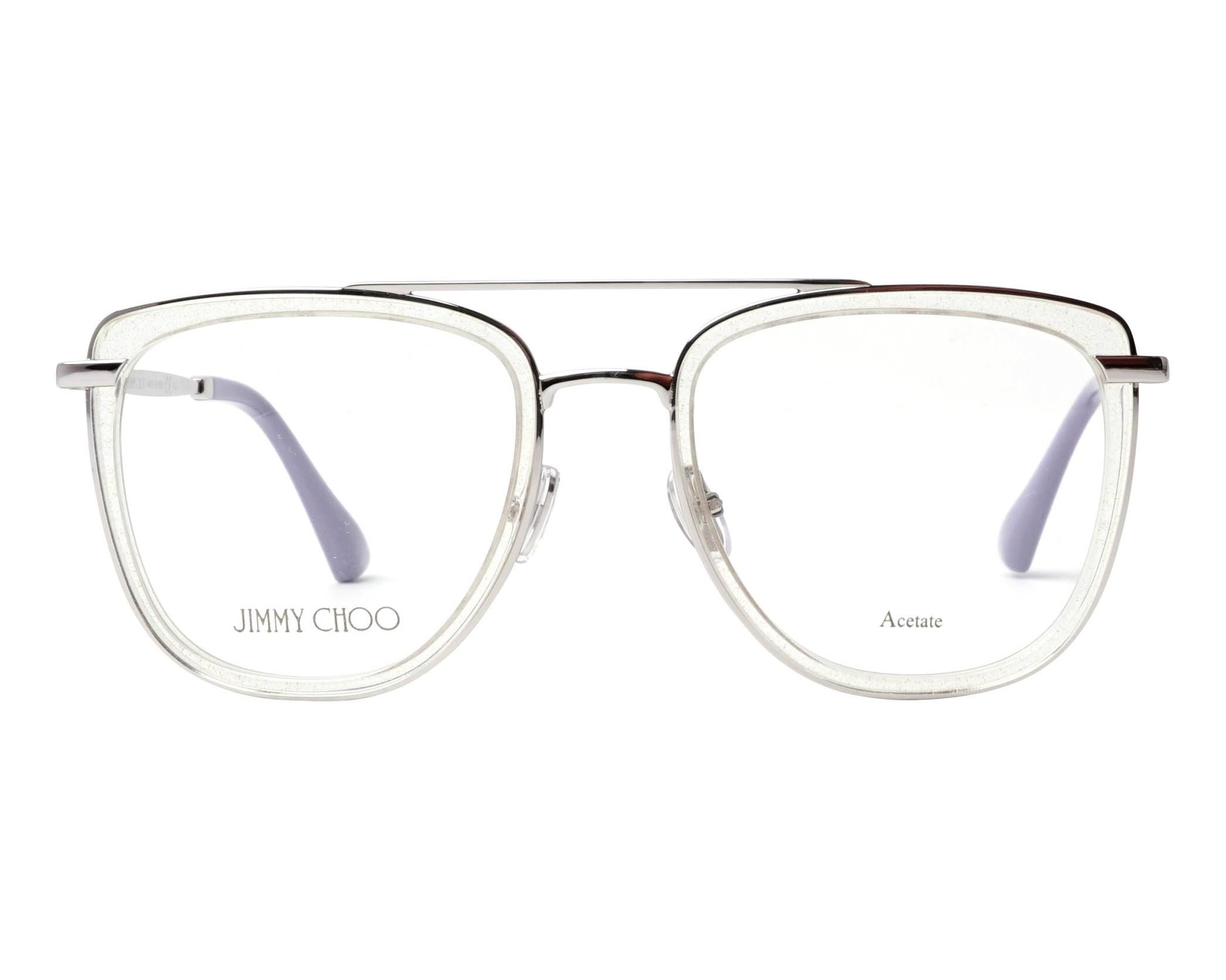 d2022b44c16f eyeglasses Jimmy Choo JC-219 900 52-20 Crystal Silver front view