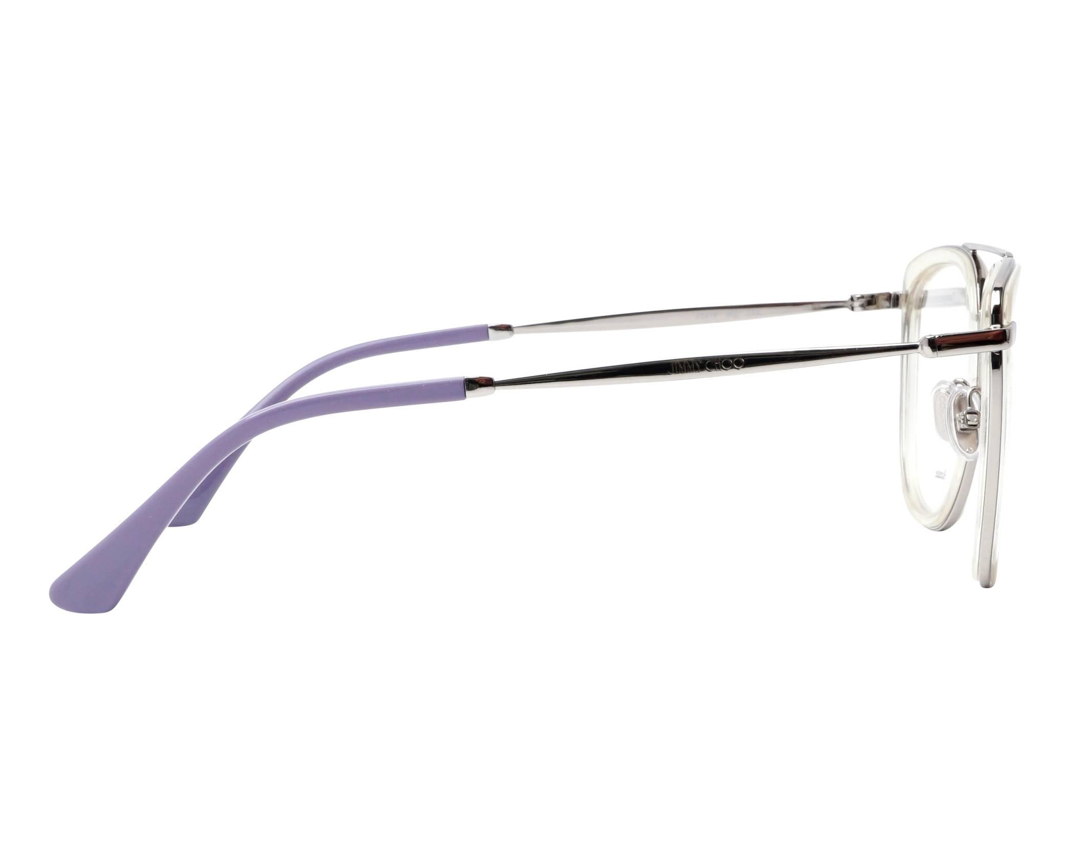5478c0de6eb7 eyeglasses Jimmy Choo JC-219 900 52-20 Crystal Silver side view