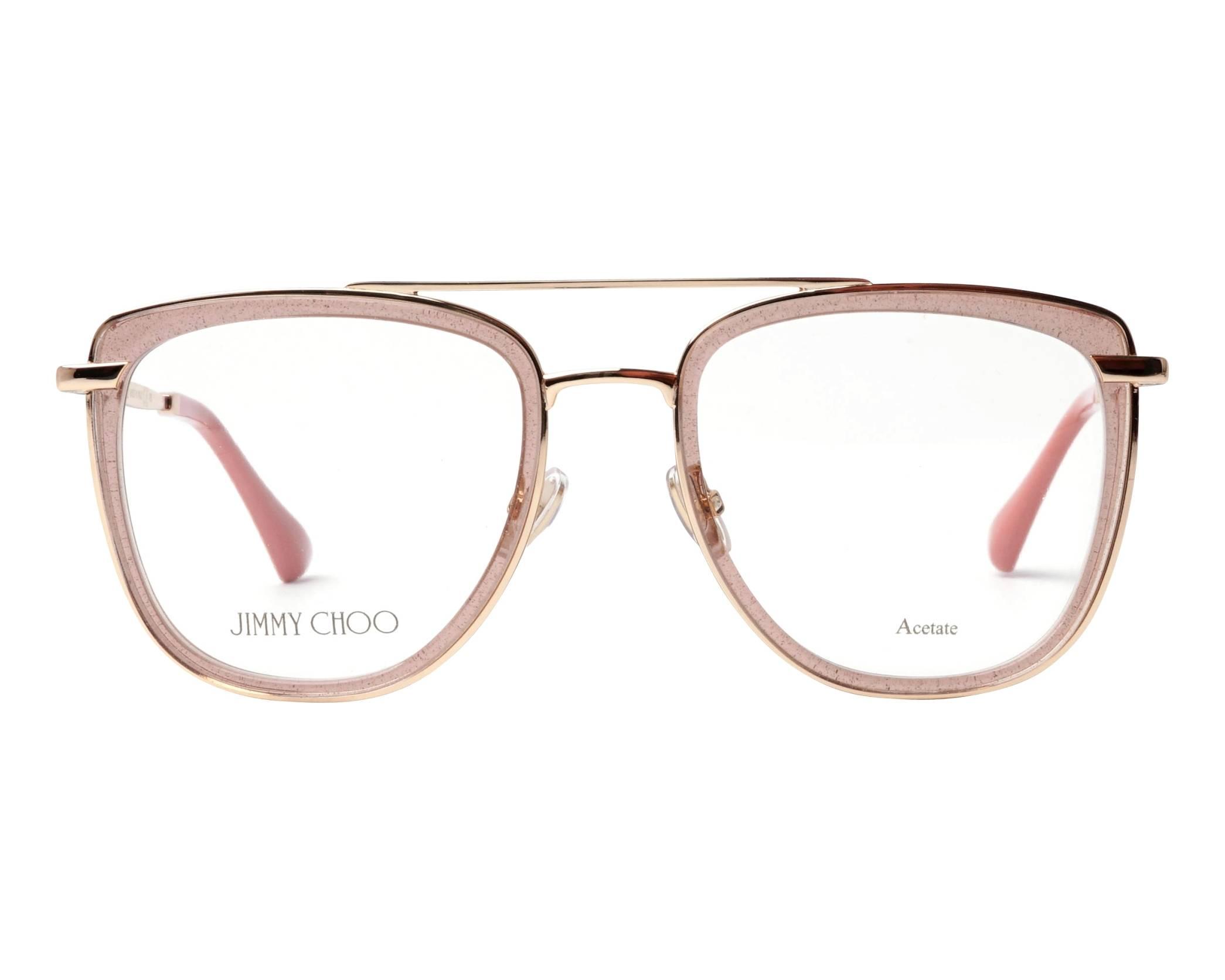 a3d81f444509 eyeglasses Jimmy Choo JC-219 FWM 52-20 Rosa Gold front view