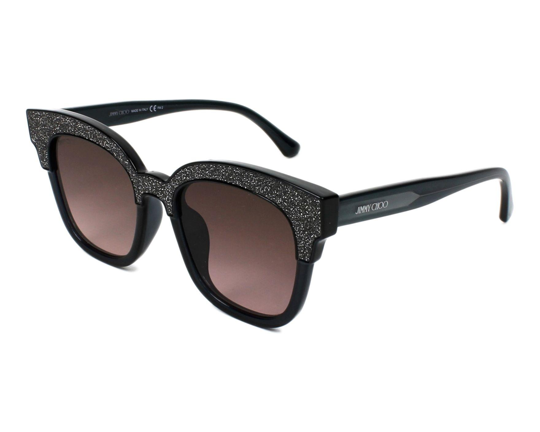 75b408630d6 Sunglasses Jimmy Choo MAYELA-S 18R VE 50-19 Silver Black profile view