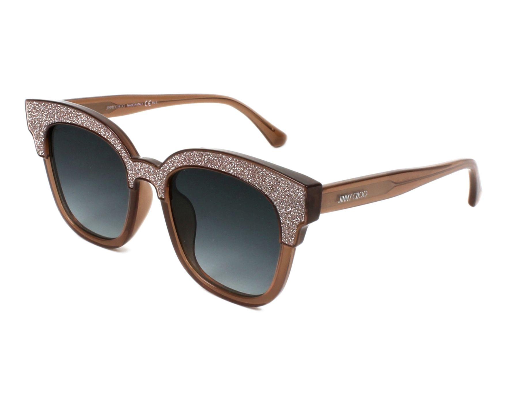 6ab98312bf2 Sunglasses Jimmy Choo MAYELA-S 18U VH 50-19 Silver Beige profile view