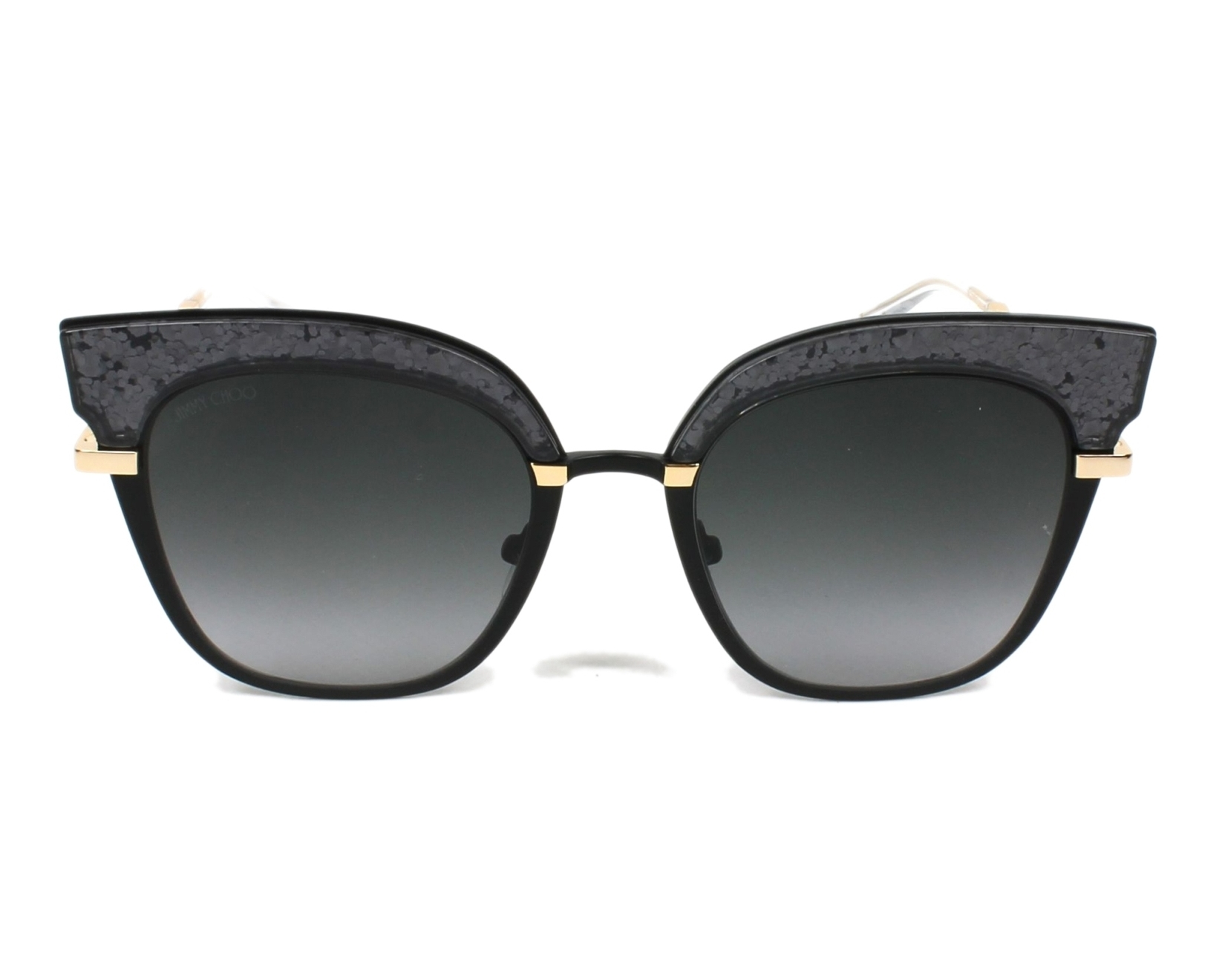 6ae12478ebec4 Sunglasses Jimmy Choo ROSY-S THP 90 51-20 Black Gold front view