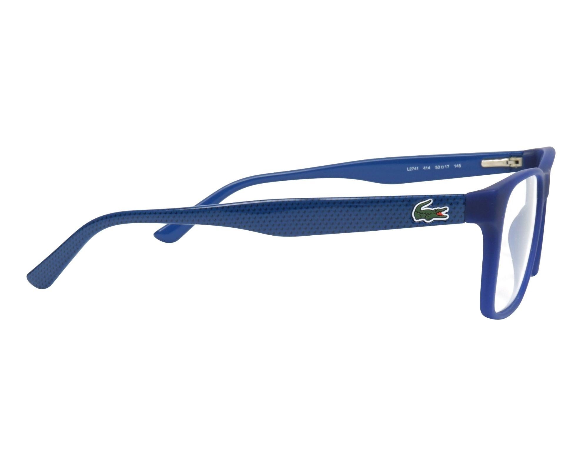 8ee8eb362b eyeglasses Lacoste L-2741 414 53-17 Blue Blue side view