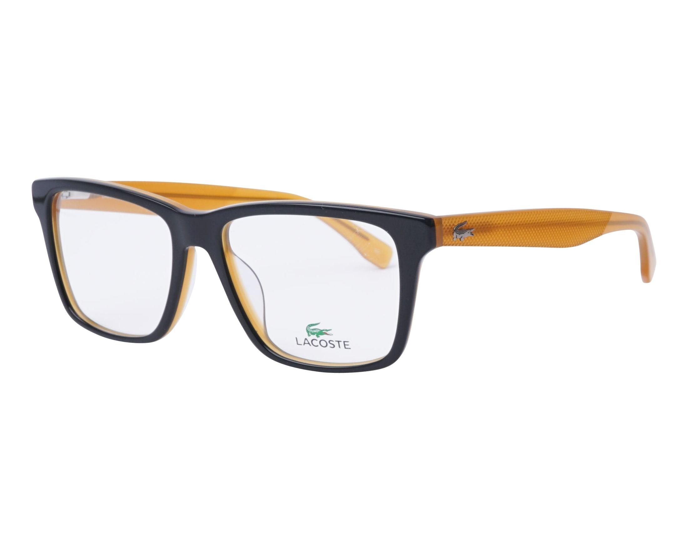 0a64ba40a eyeglasses Lacoste L-2769 001 54-16 Black Brown profile view