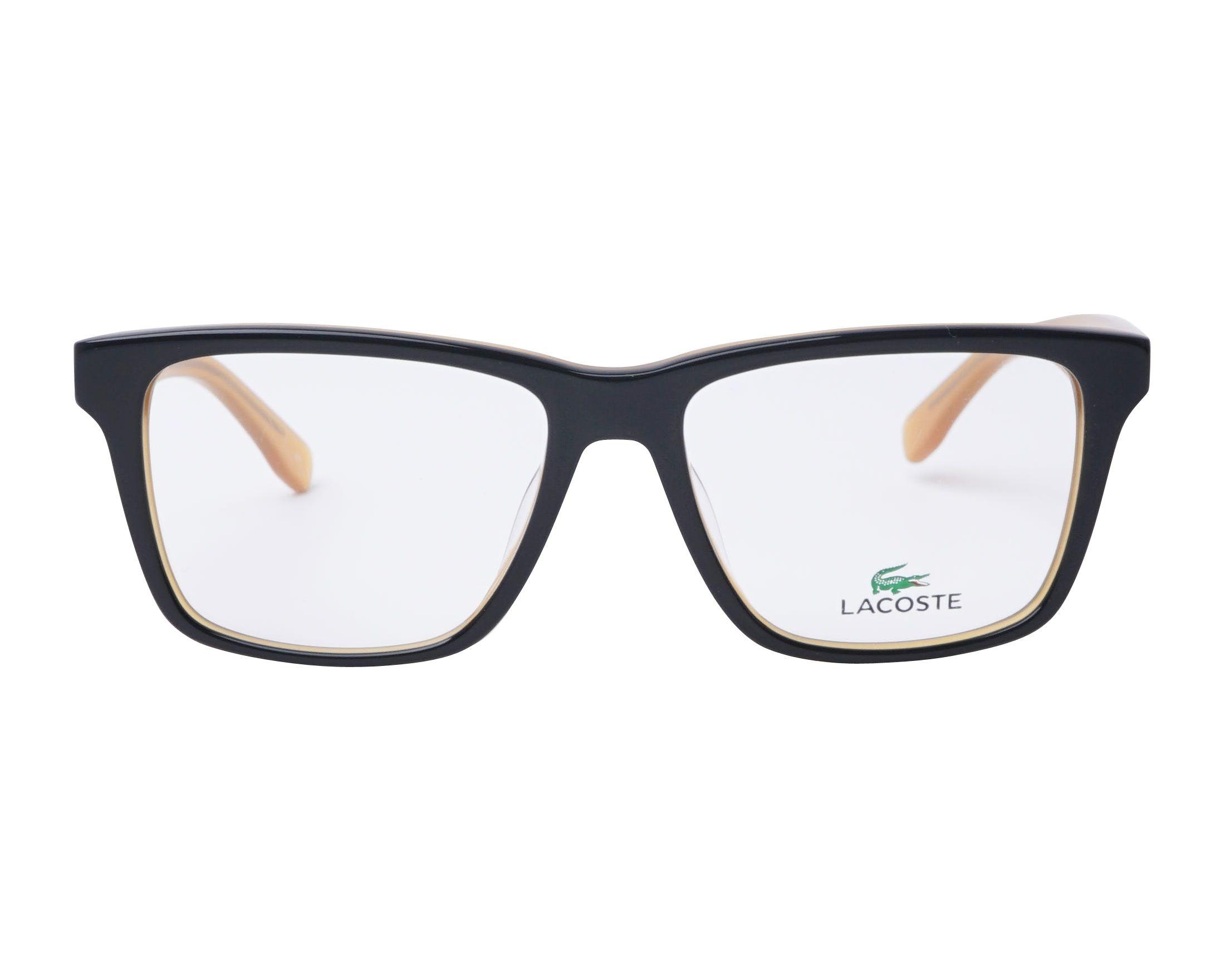 4dc47fddc eyeglasses Lacoste L-2769 001 54-16 Black Brown front view