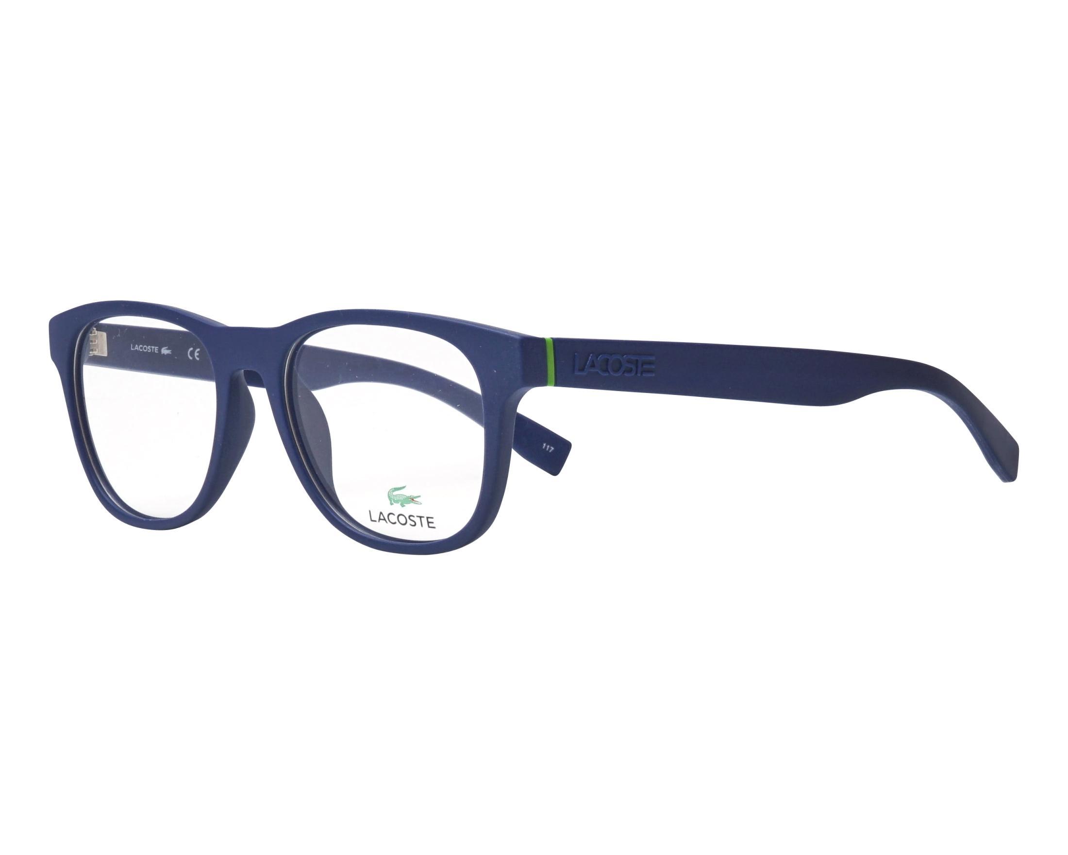 55df3ef630ca eyeglasses Lacoste L-2795 424 52-18 Blue profile view