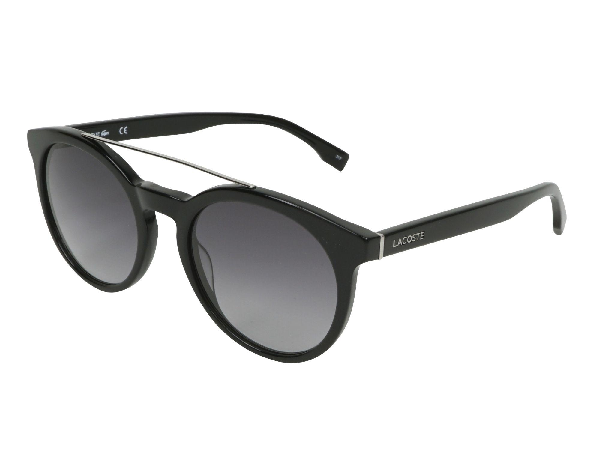 09ee220d099fdd Sunglasses Lacoste L-821-S 001 - Black Silver profile view