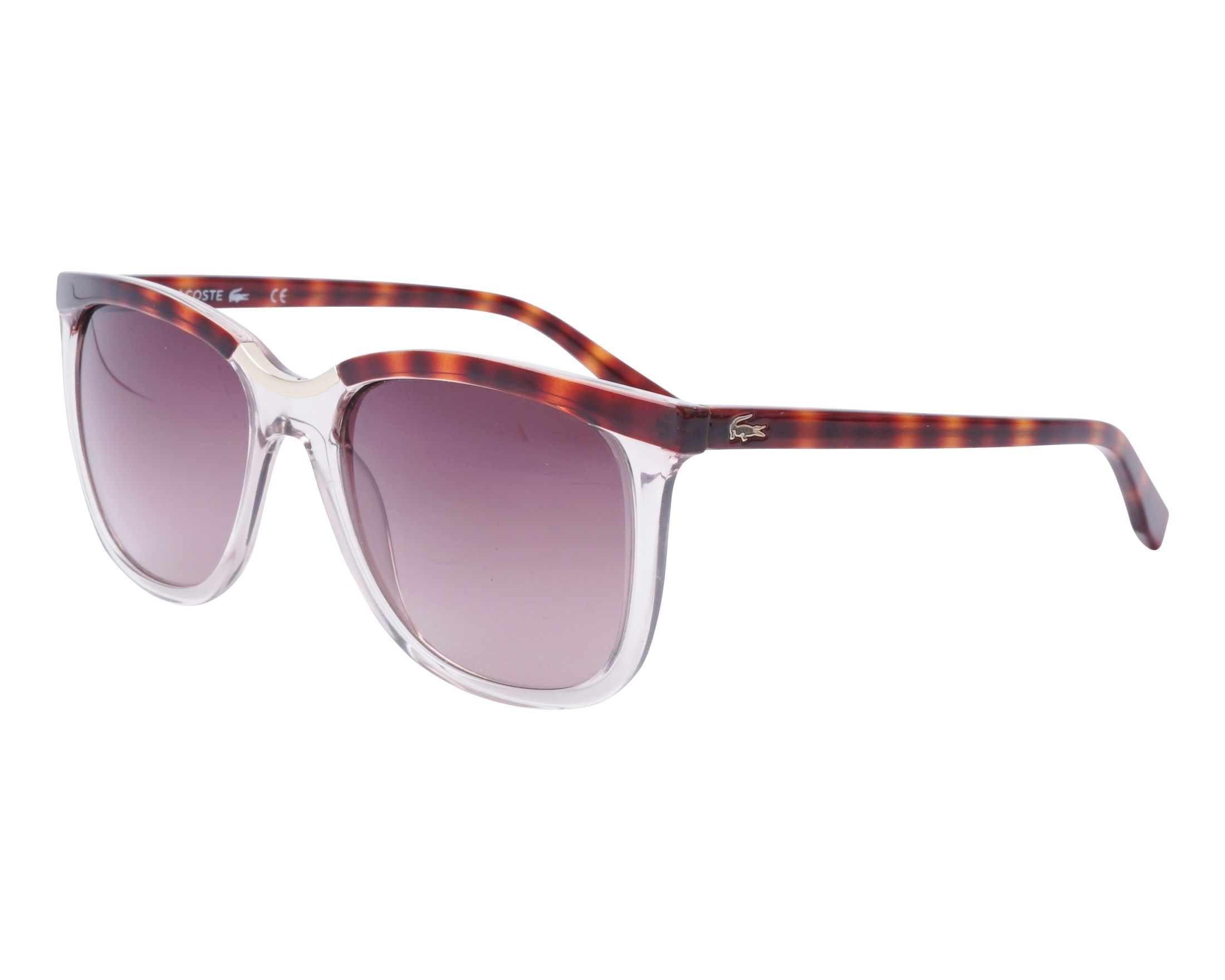 fc30446662f Sunglasses Lacoste L-824-S 662 55-17 Crystal Havana profile view