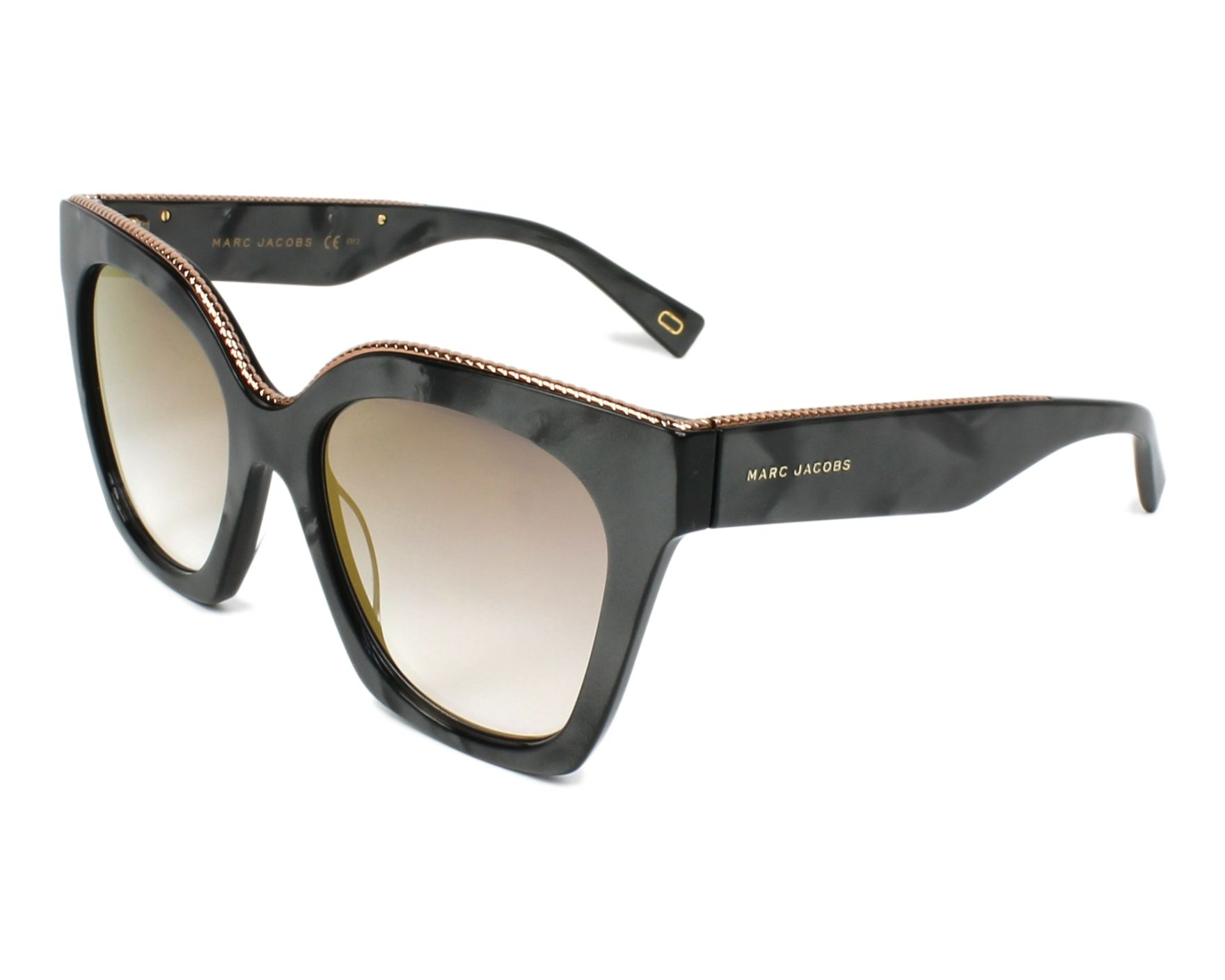 c46813cb2eca2 Sunglasses Marc Jacobs MARC-162-S C8W FQ 52-19 Grey Gold