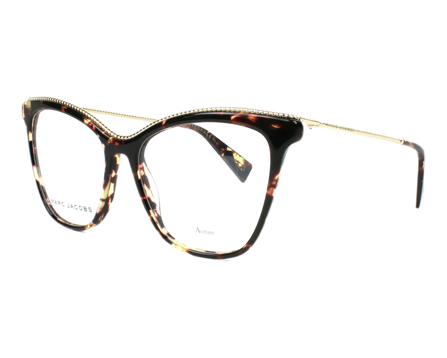 67c4f9a550 eyeglasses Marc Jacobs MARC-166 086 54-16 Havana Gold profile view