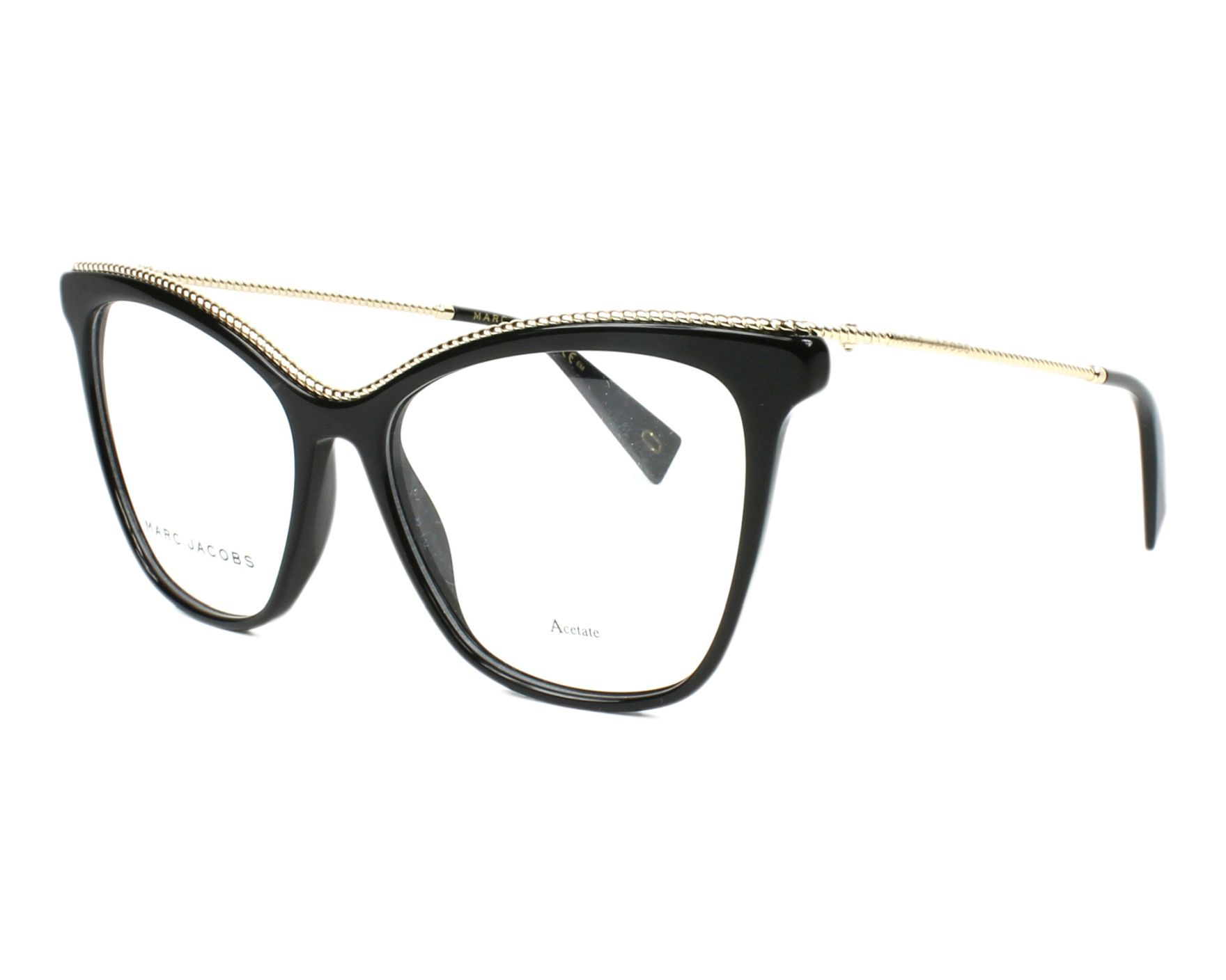 29a335ec02 eyeglasses Marc Jacobs MARC-166 807 54-16 Black Gold profile view