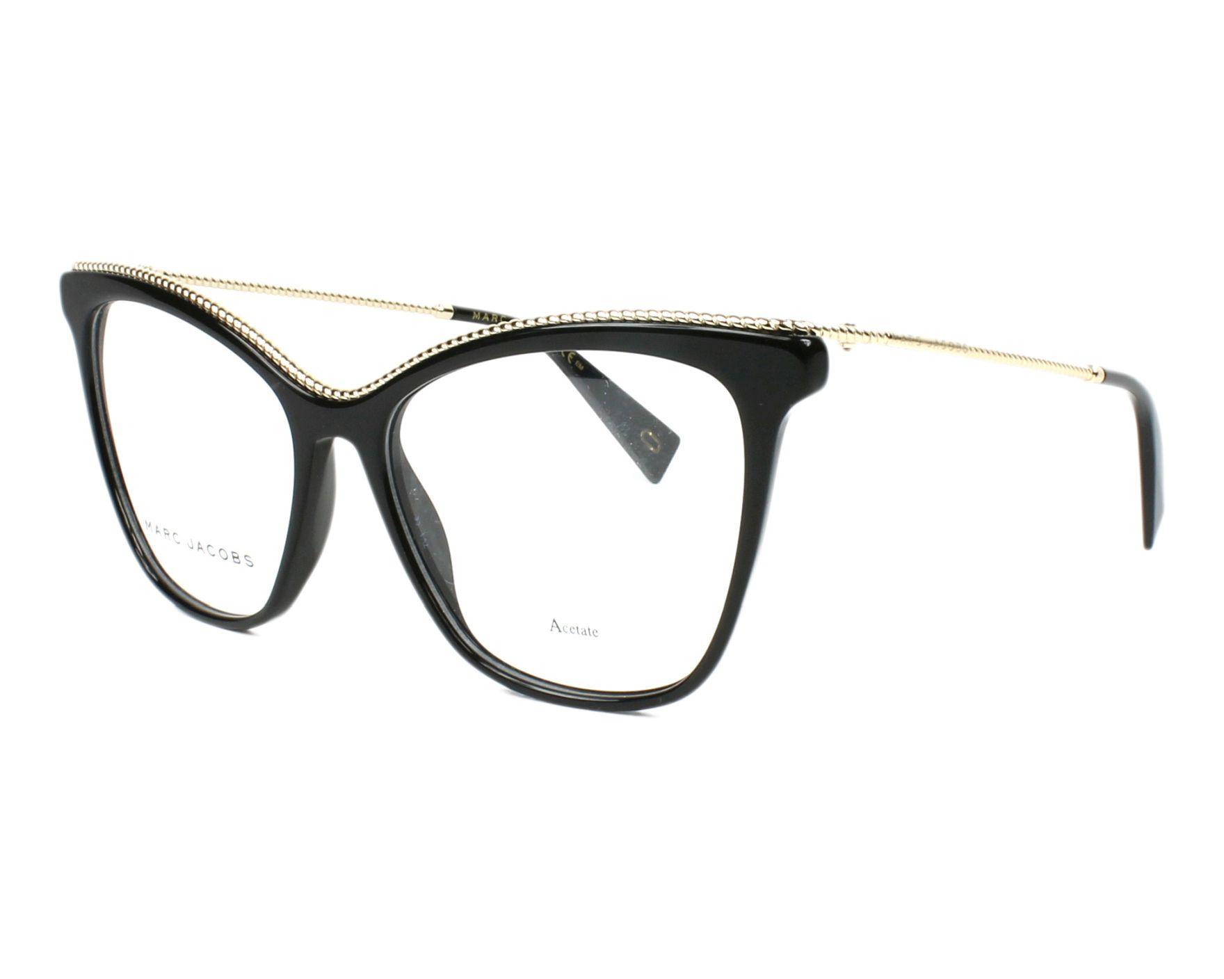 29a335ec02 eyeglasses Marc Jacobs MARC-166 807 54-16 Black Gold profile view