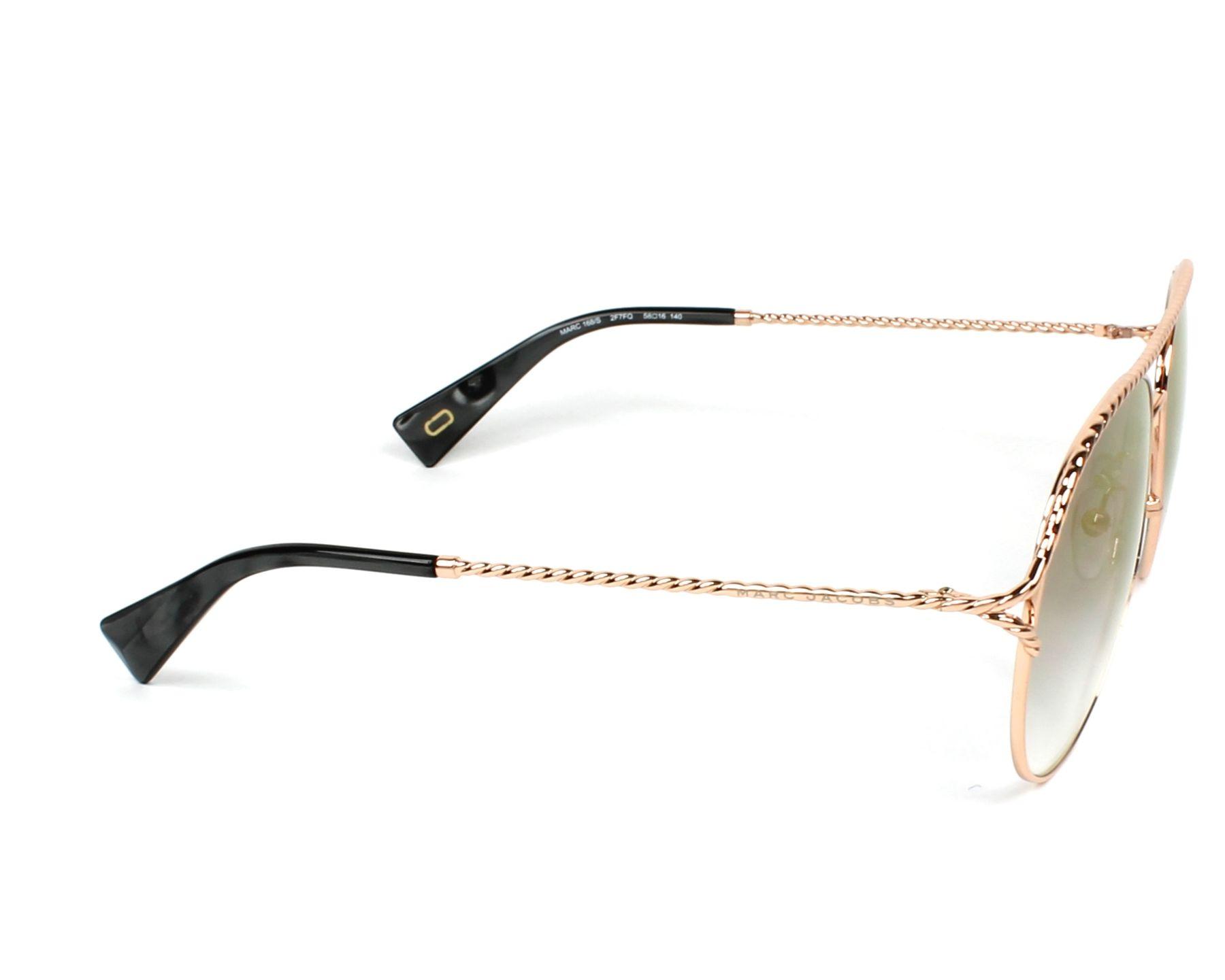 2c5519e9a7f7f1 Sunglasses Marc Jacobs MARC-168-S 2F7 FQ 58-16 Gold Copper