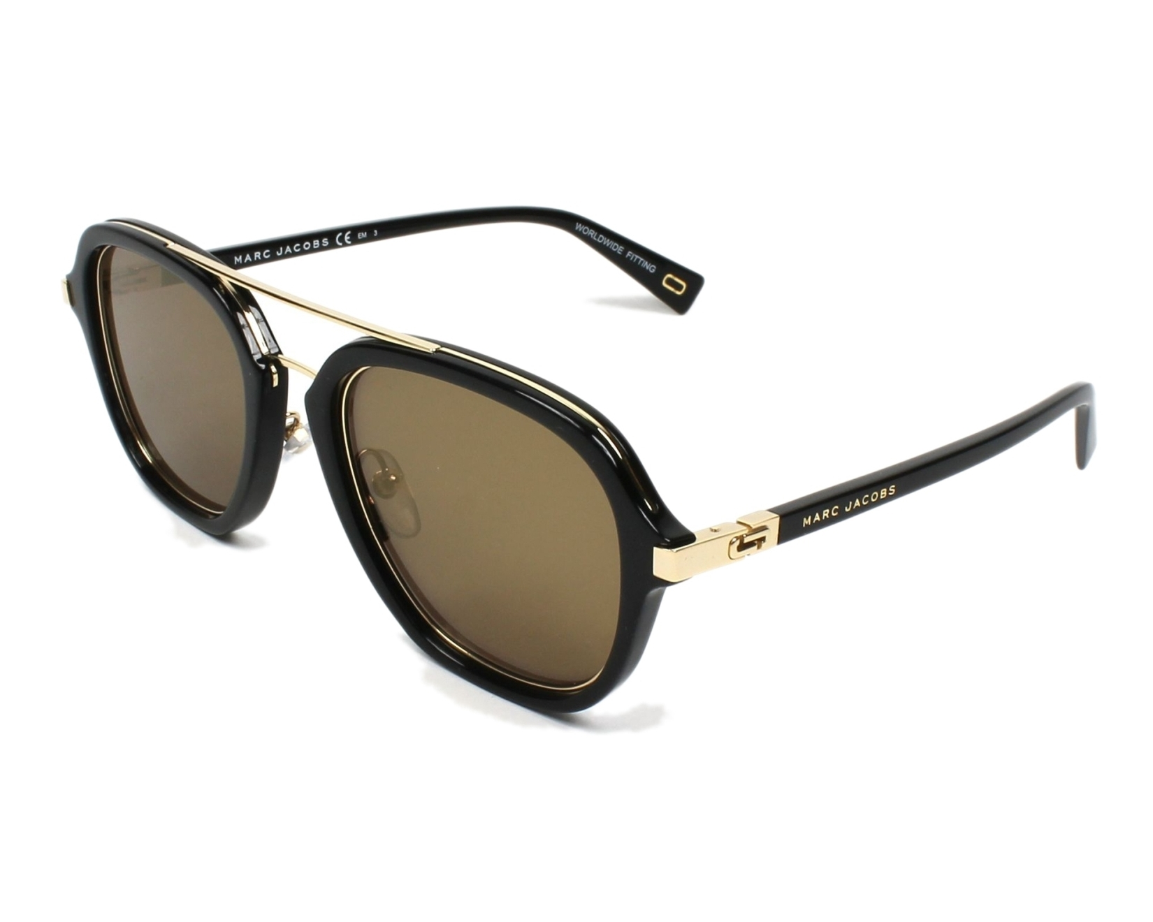Sunglasses Marc Jacobs MARC-172-S 2M2 K1 54-22 Black Gold d070468ae80d