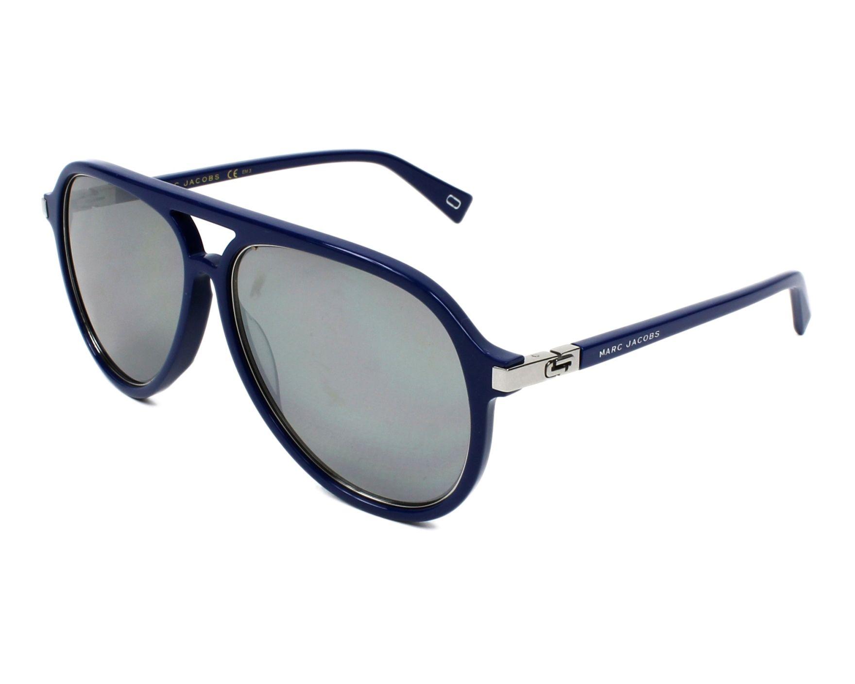 8477d73294 Sunglasses Marc Jacobs MARC-174-S PJP T4 58-14 Blue Silver