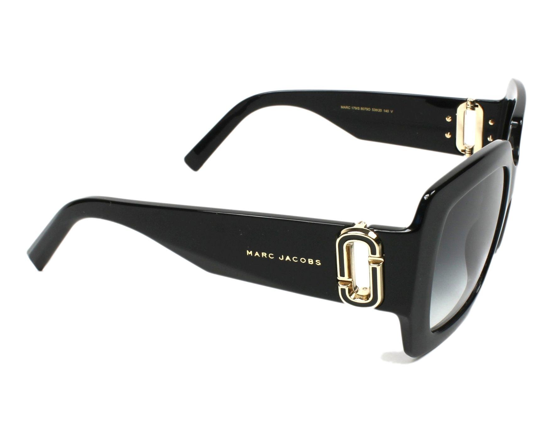 11cbea41d8 thumbnail Sunglasses Marc Jacobs MARC-179-S 807 90 - Black side view