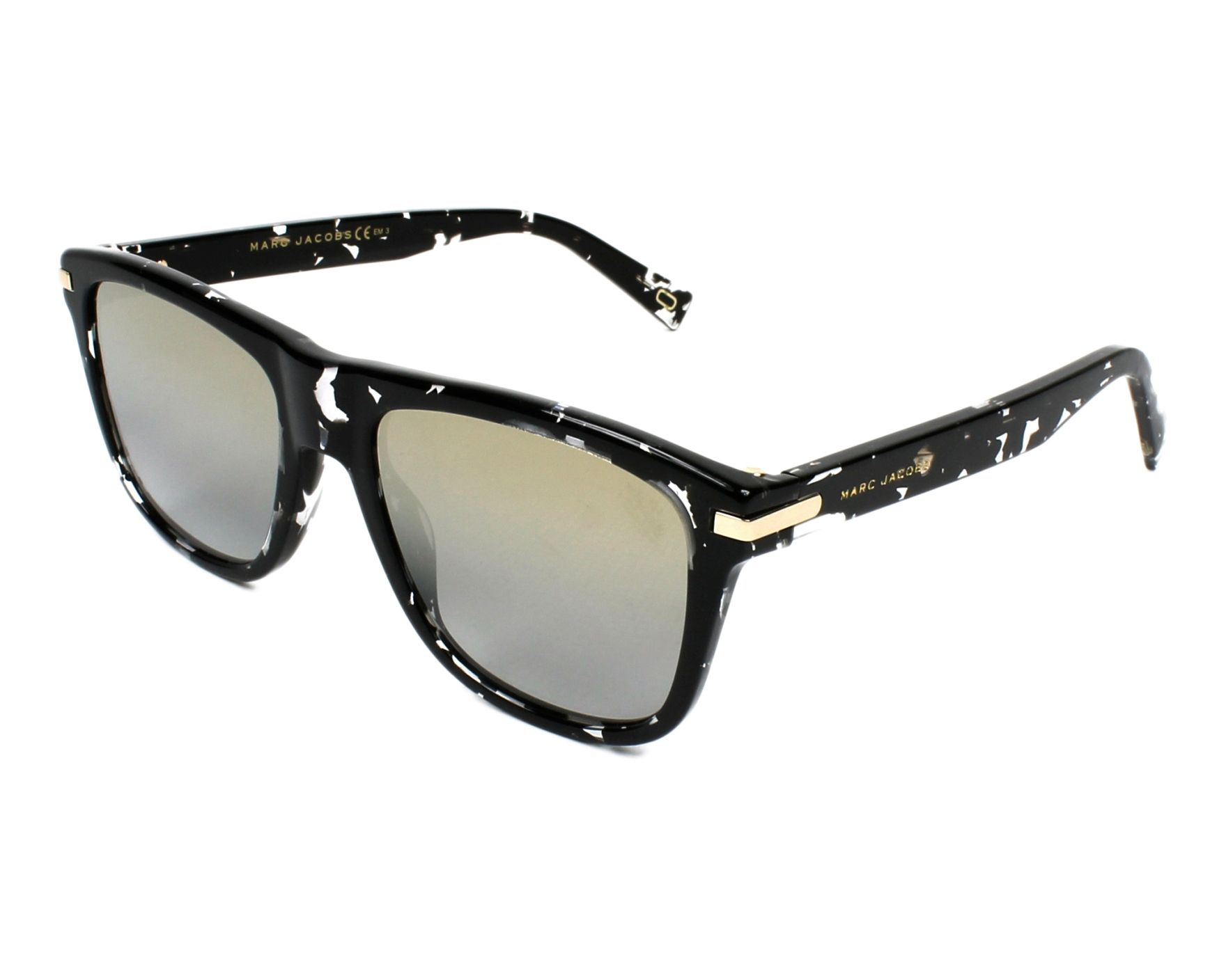 be2691bfeaa Sunglasses Marc Jacobs MARC-185-S 9WZ 9F 54-19 Black Crystal
