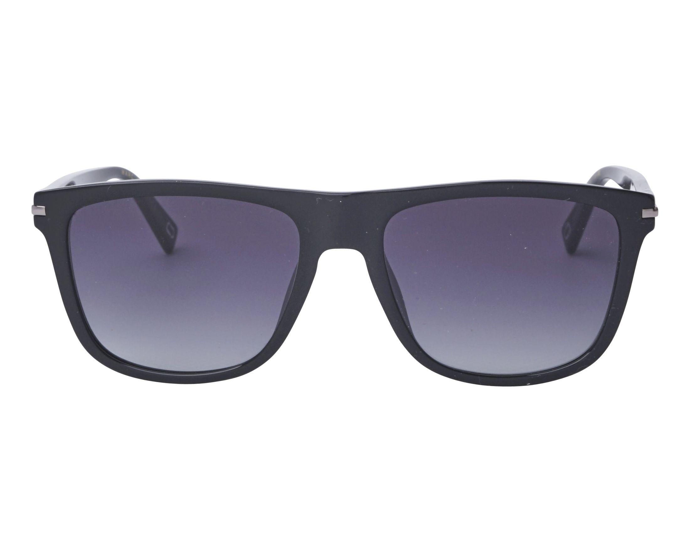 Sunglasses Marc Jacobs MARC-221-S 807 55-18 Black Silver front view 30476ce9e297