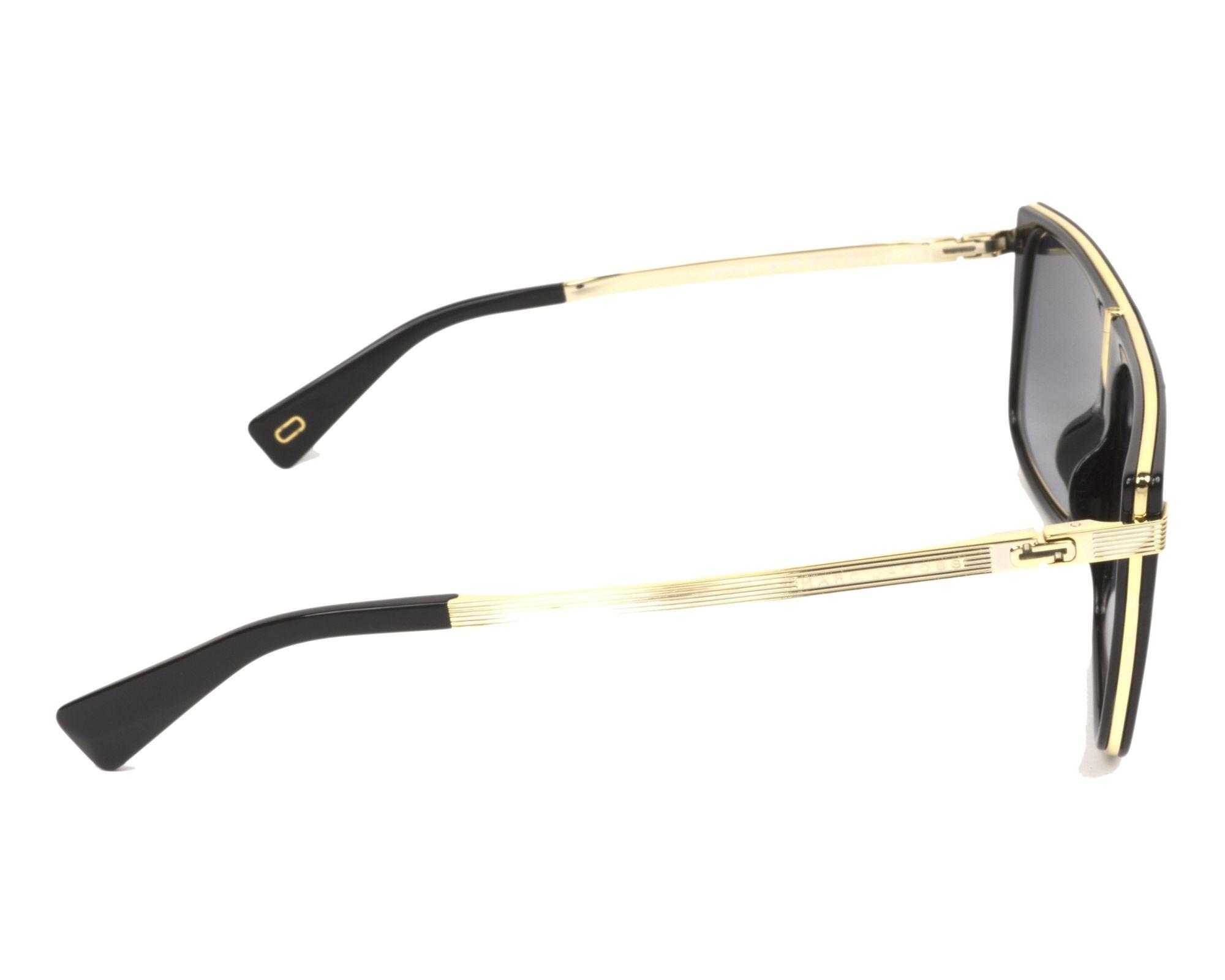 ... Sunglasses Marc Jacobs MARC-242-S 2M29O 59-14 Black Gold hot new ... 84a1d1777046