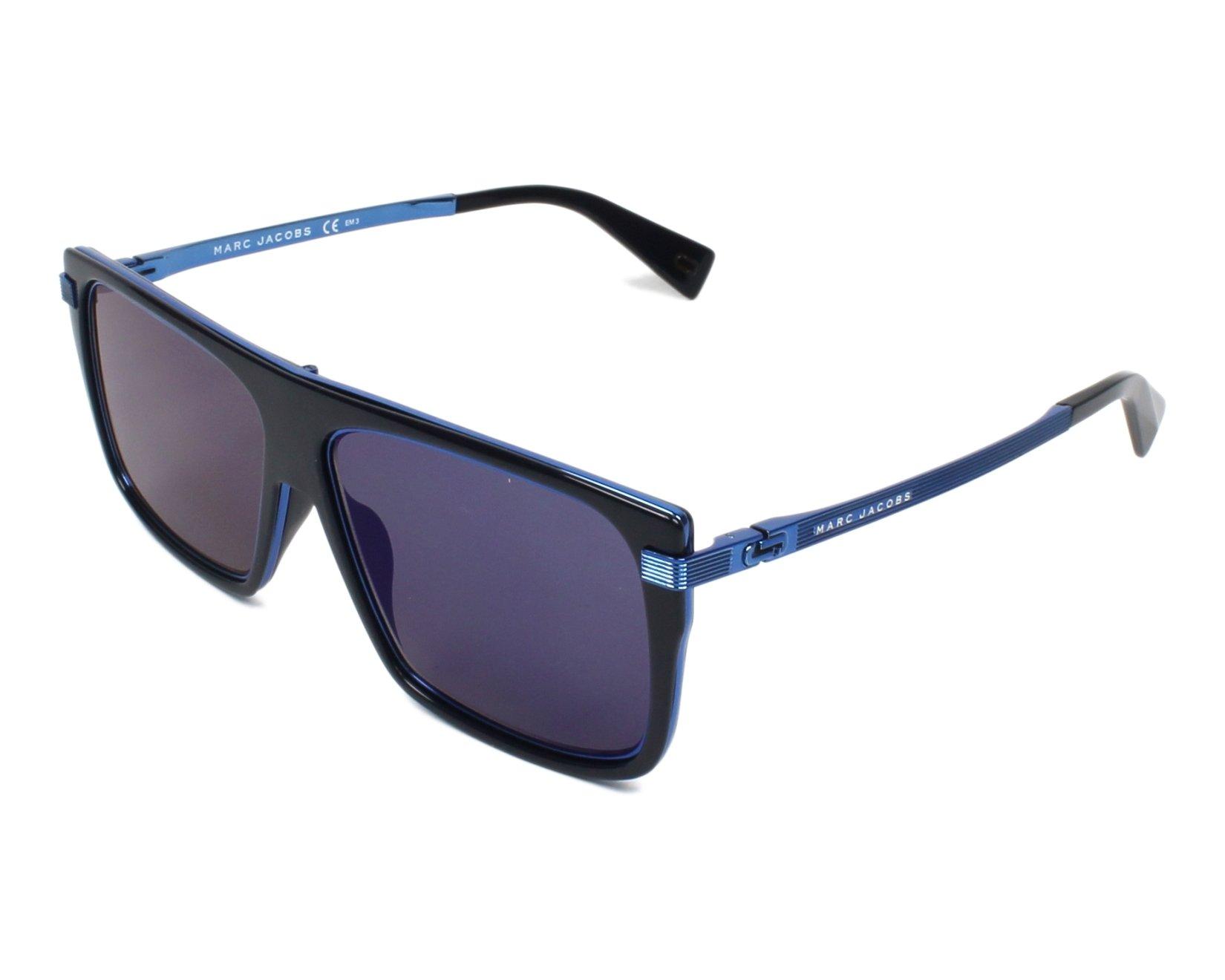 ... Sunglasses Marc Jacobs MARC-242-S PJPXT 59-14 Blue Blue on feet ... 35c0edce7fae