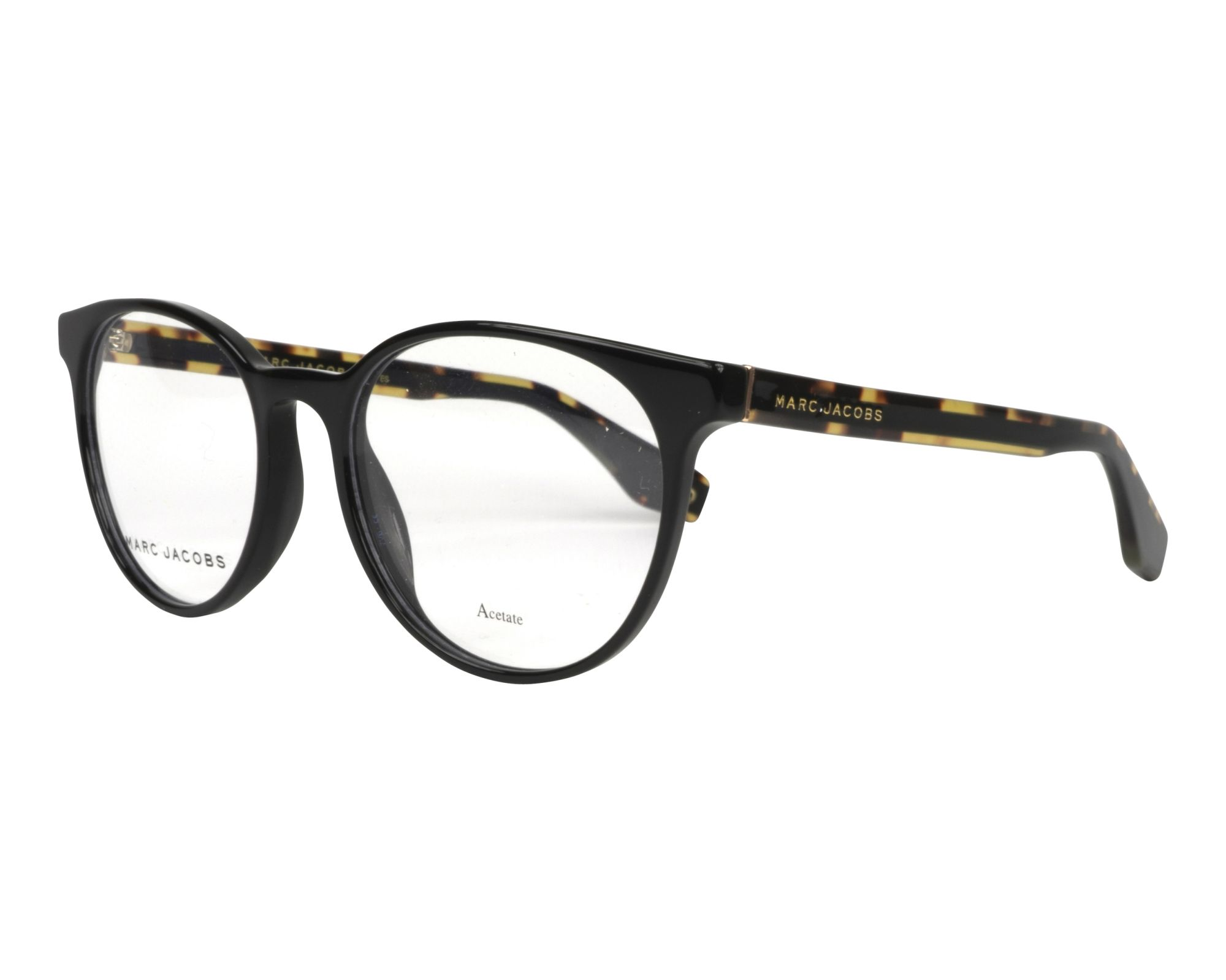 5feac43f32 eyeglasses Marc Jacobs MARC-283 807 52-18 Black Brown profile view