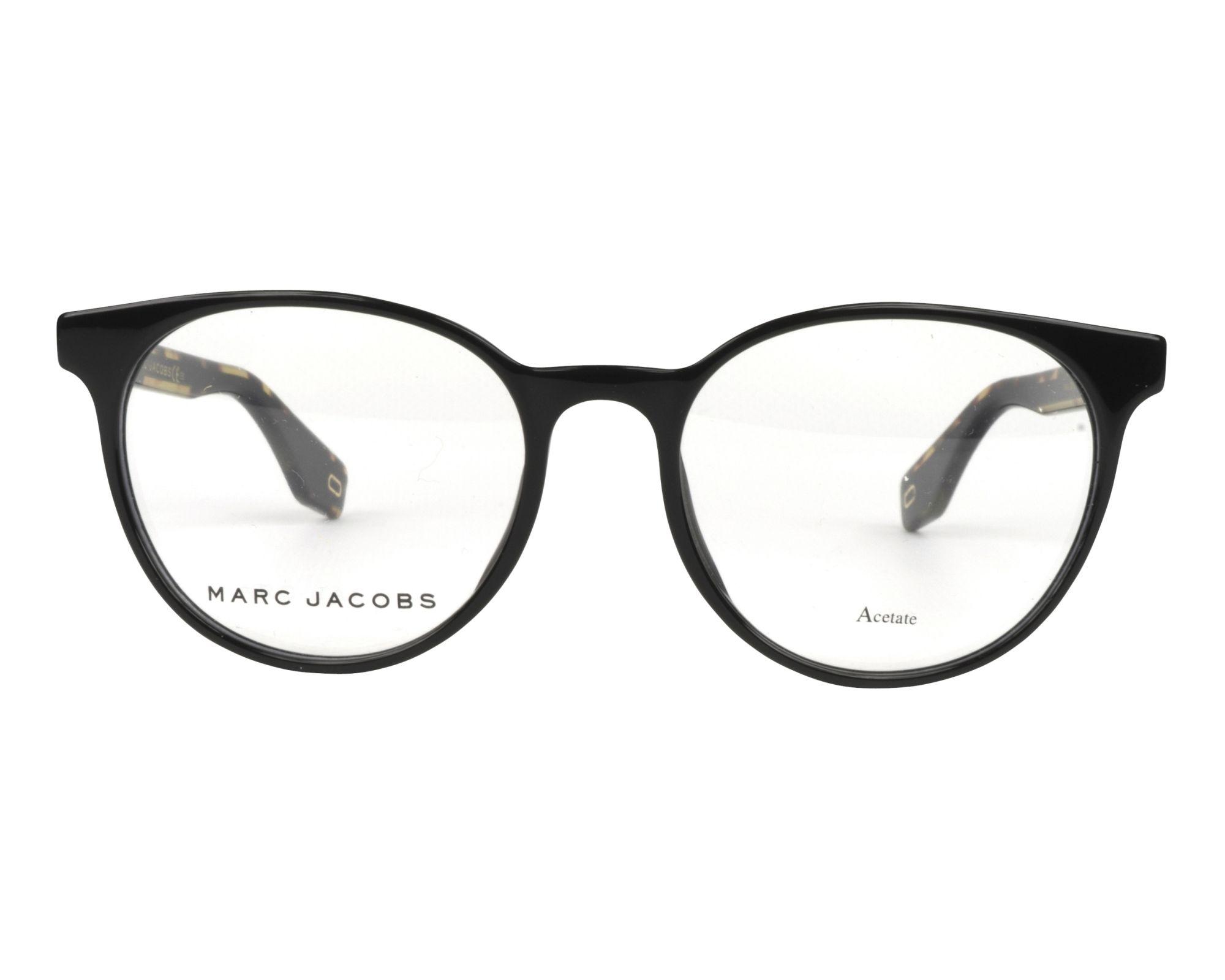 b916502618f eyeglasses Marc Jacobs MARC-283 807 52-18 Black Brown front view