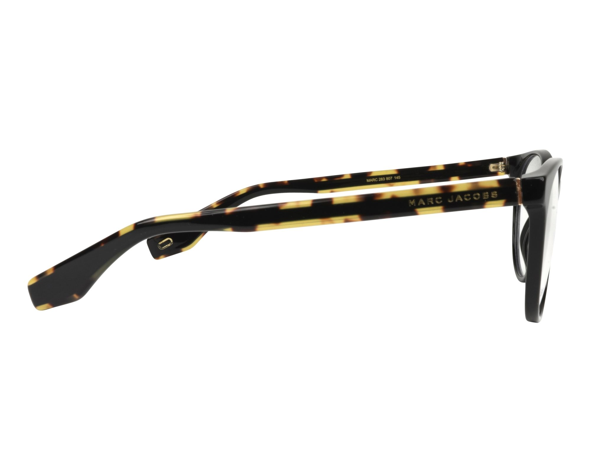 7195ba34f2 eyeglasses Marc Jacobs MARC-283 807 52-18 Black Brown side view