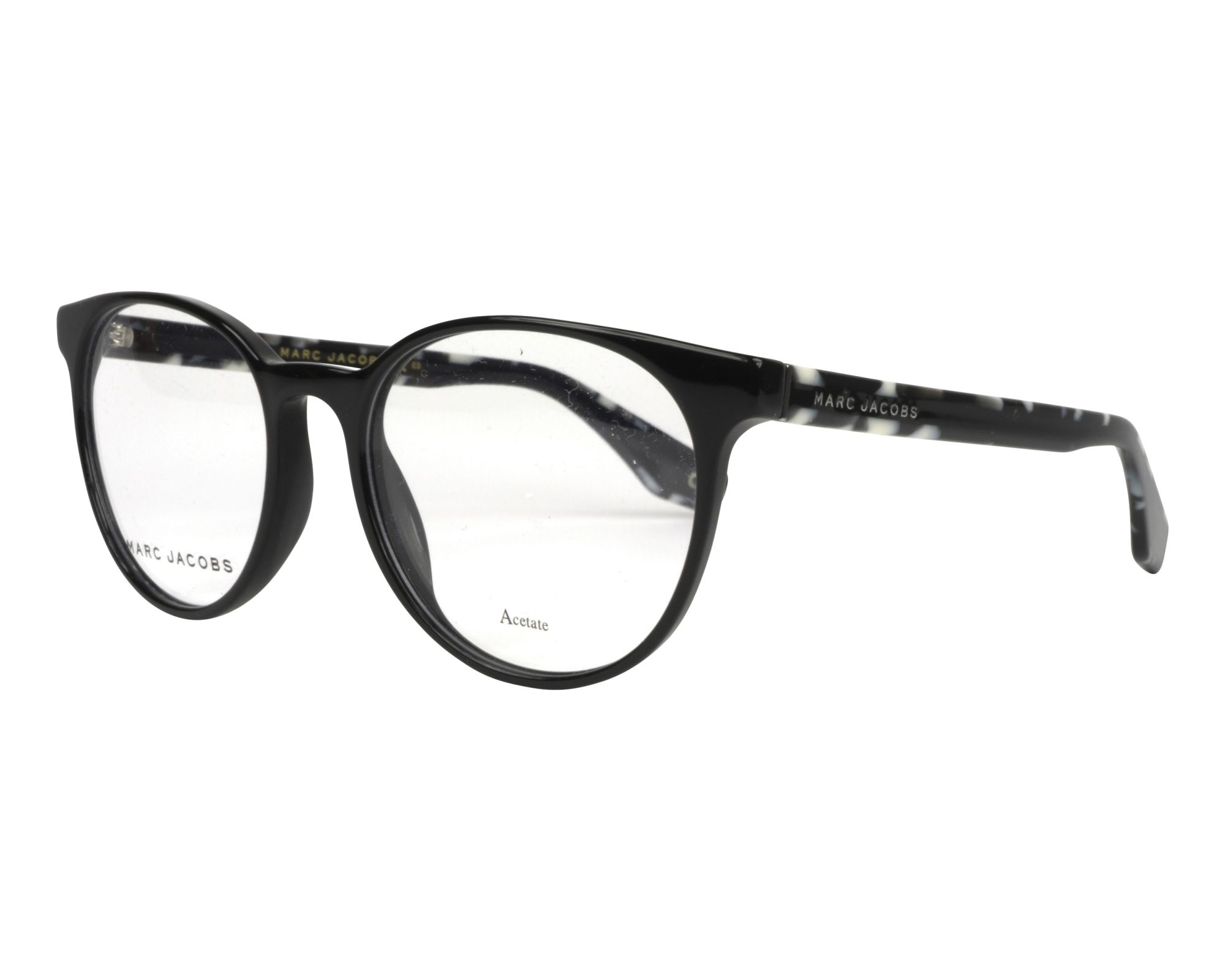 4a9c636672 eyeglasses Marc Jacobs MARC-283 WR7 52-18 Black White profile view