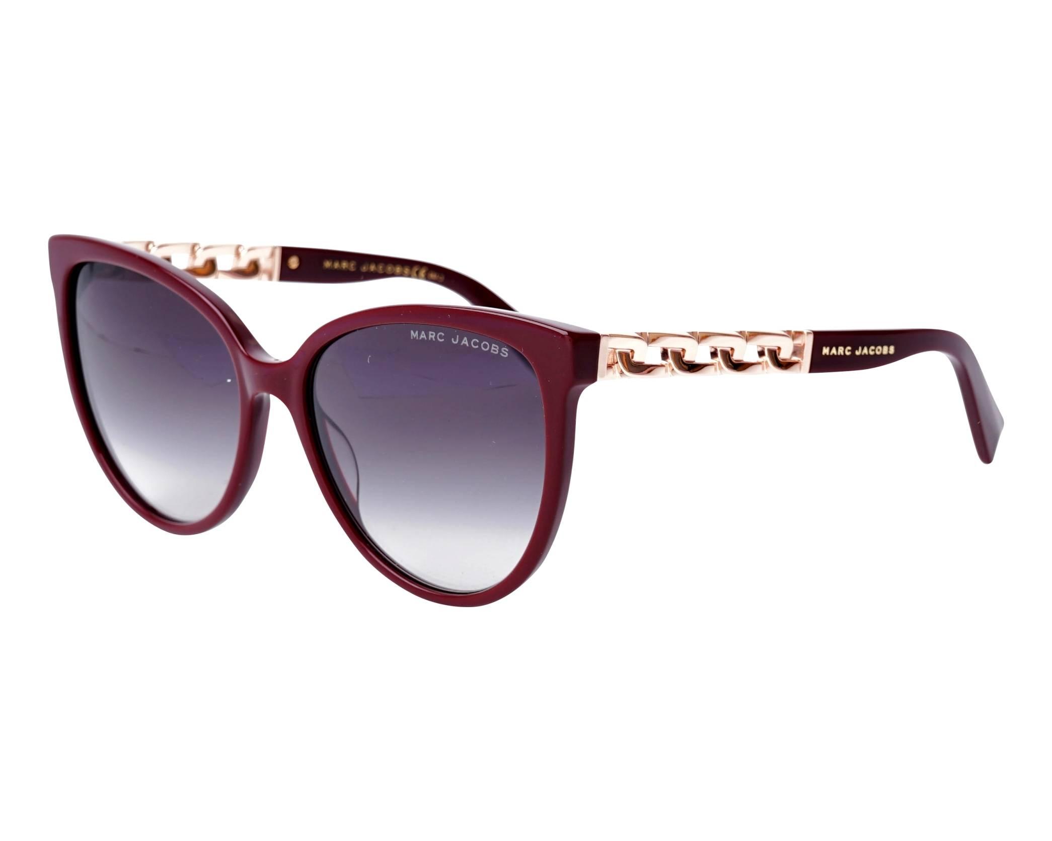 0f73d6452c2 Sunglasses Marc Jacobs MARC-333-S LHF9O 57-17 Bordeaux Gold profile view