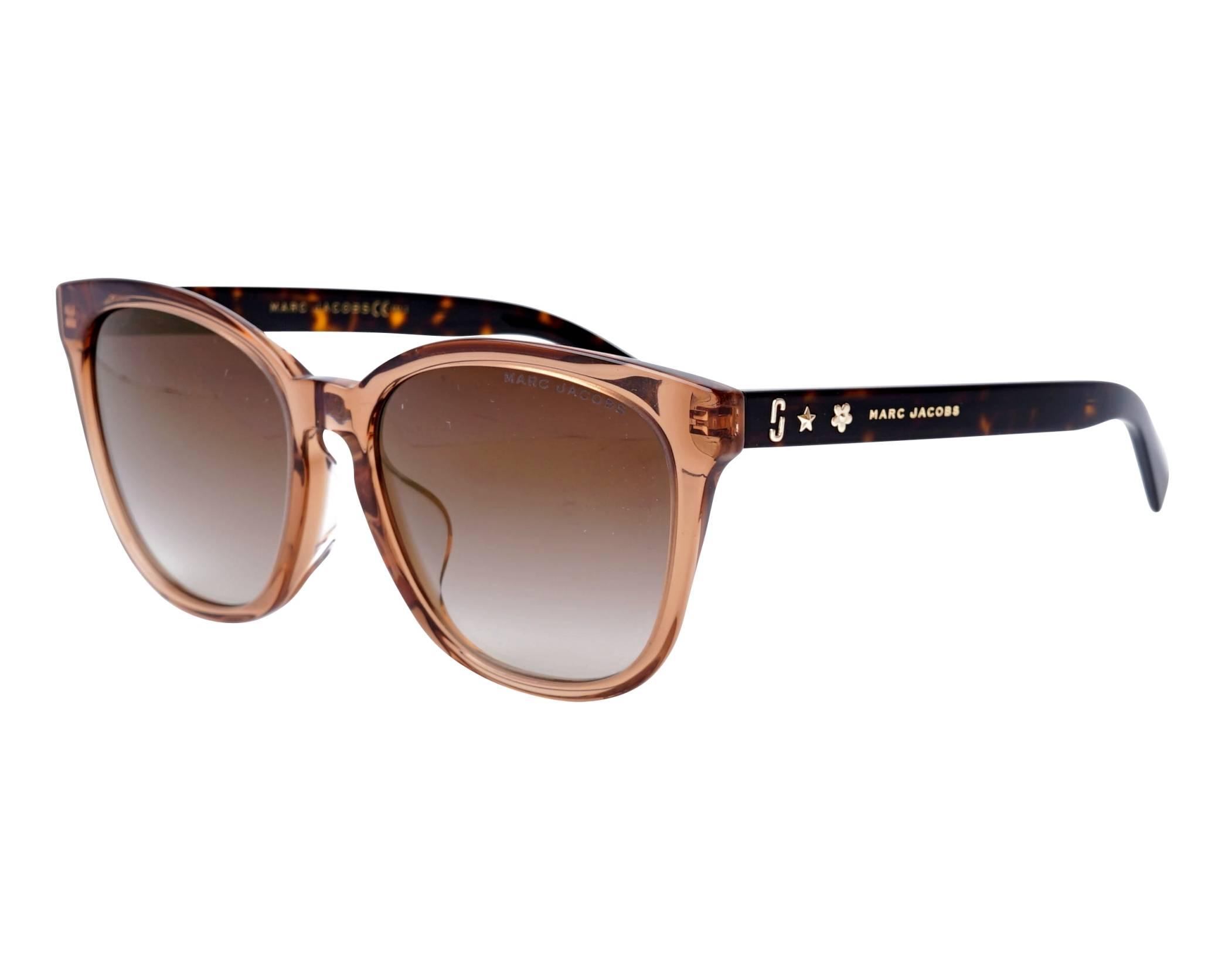 Sunglasses Marc Jacobs MARC-345-F-S 086JL 55-17 Brown Havana profile view a50bcfc7834