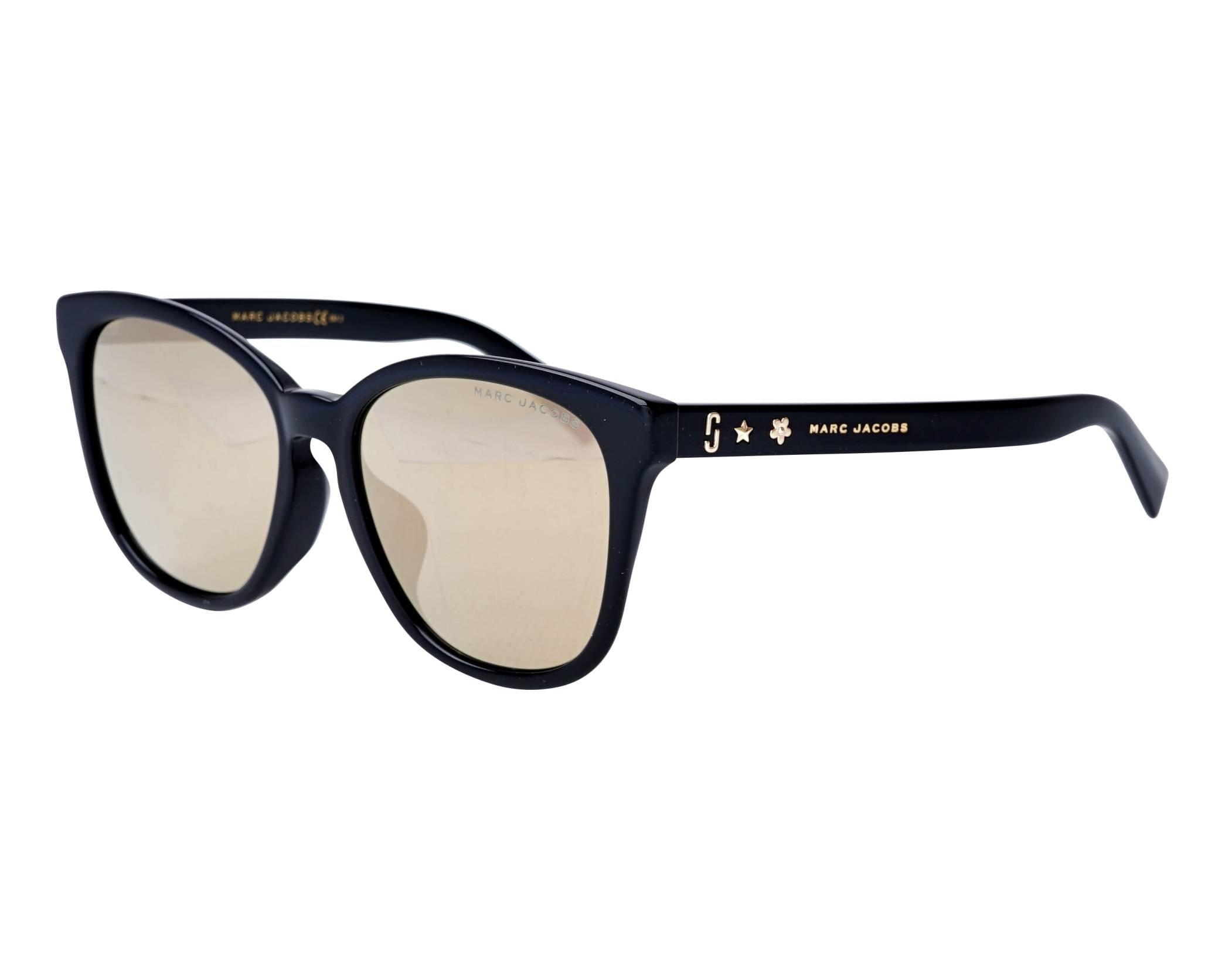 Sunglasses Marc Jacobs MARC-345-F-S 807UE 55-17 Black profile view a8a357ad278