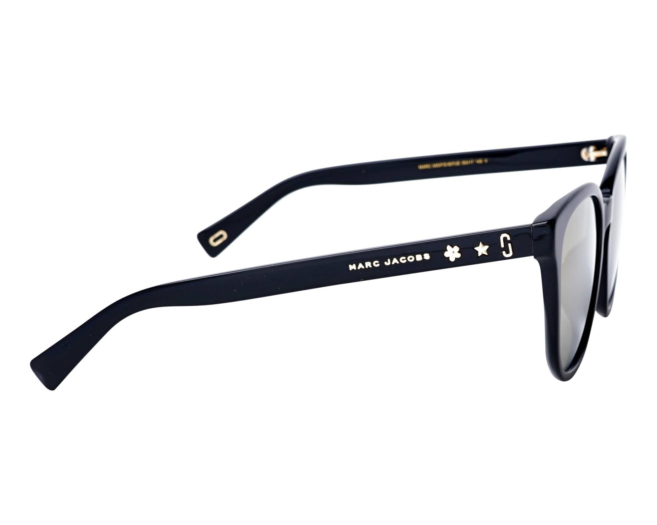 Sunglasses Marc Jacobs MARC-345-F-S 807UE 55-17 Black side view ea8a895b474