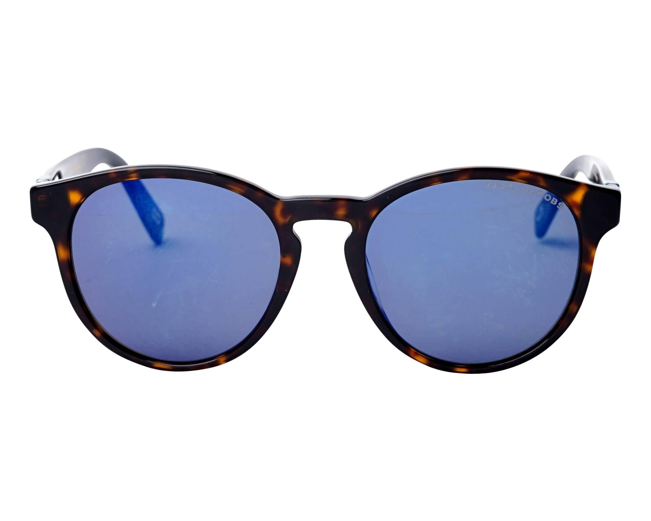c180b1d1de6 Sunglasses Marc Jacobs MARC-351-S 086XT 52-19 Havana front view