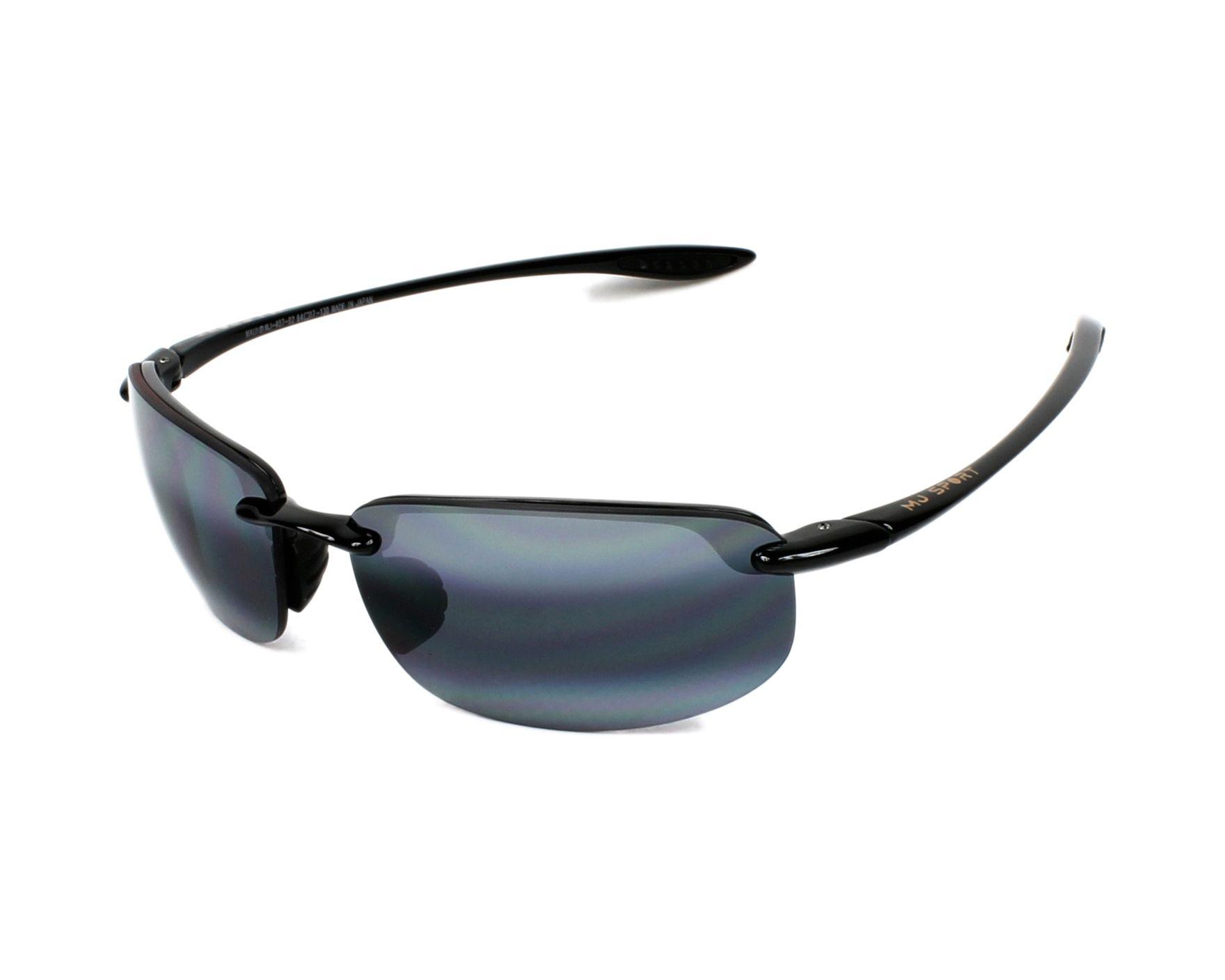 Sunglasses Maui Jim 407 02 64-17 Black profile view b6a74a71fb6c