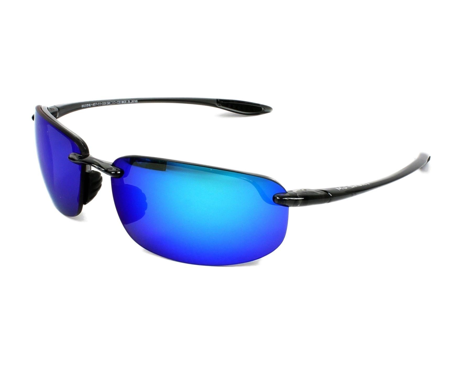 a170ef72bf2 Sunglasses Maui Jim B-407 11 64-17 Grey profile view