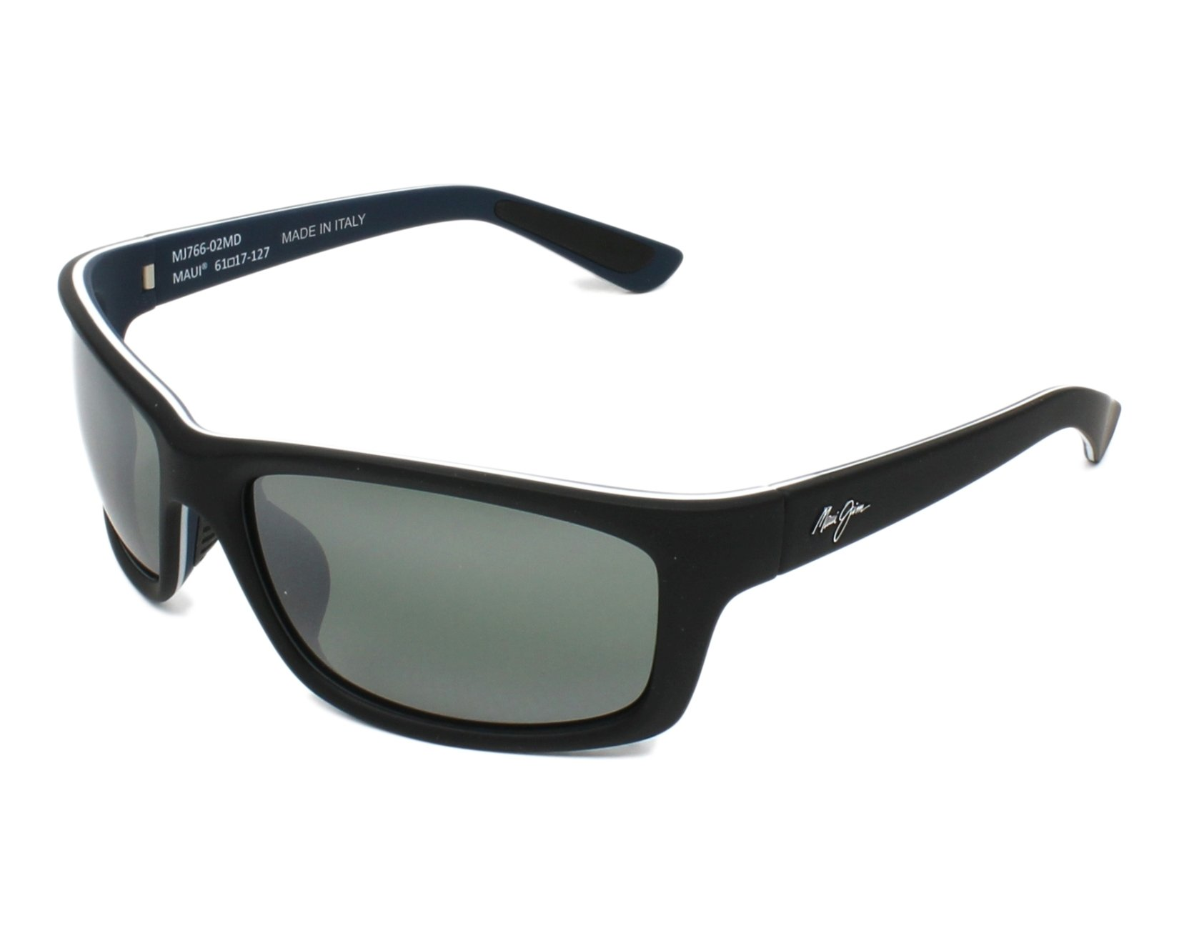dc3665fb03 Polarized. Sunglasses Maui Jim 766 02MD - Black Blue profile view