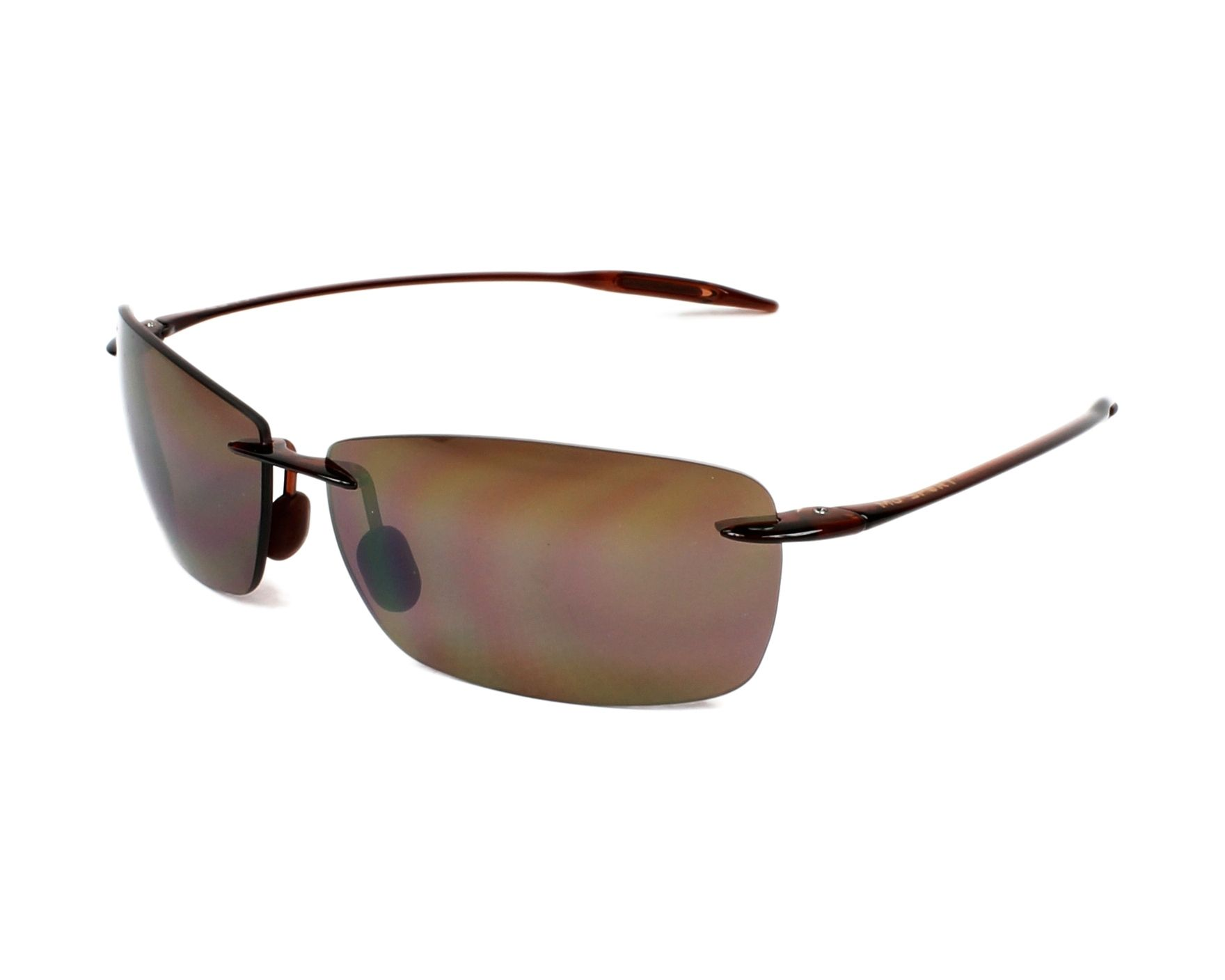 2068130254b Sunglasses Maui Jim H-423 26 67-13 Brown profile view