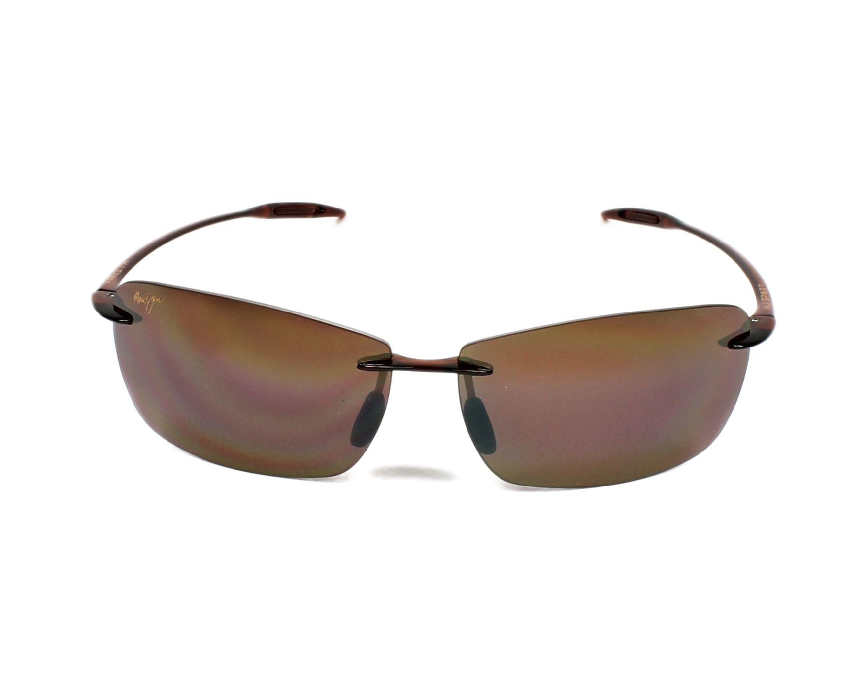 c67ea1376bf Sunglasses Maui Jim H-423 26 67-13 Brown front view