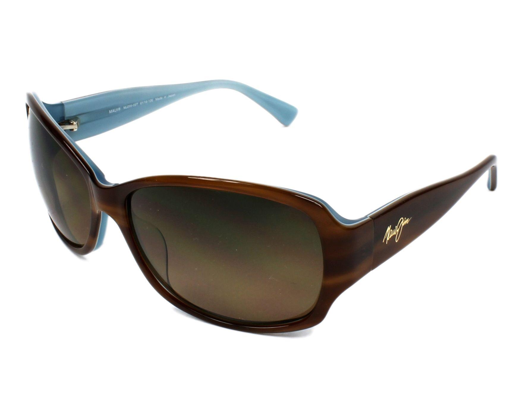 4707a0cc9a52 Sunglasses Maui Jim HS-295 03T 61-16 Havana Blue profile view