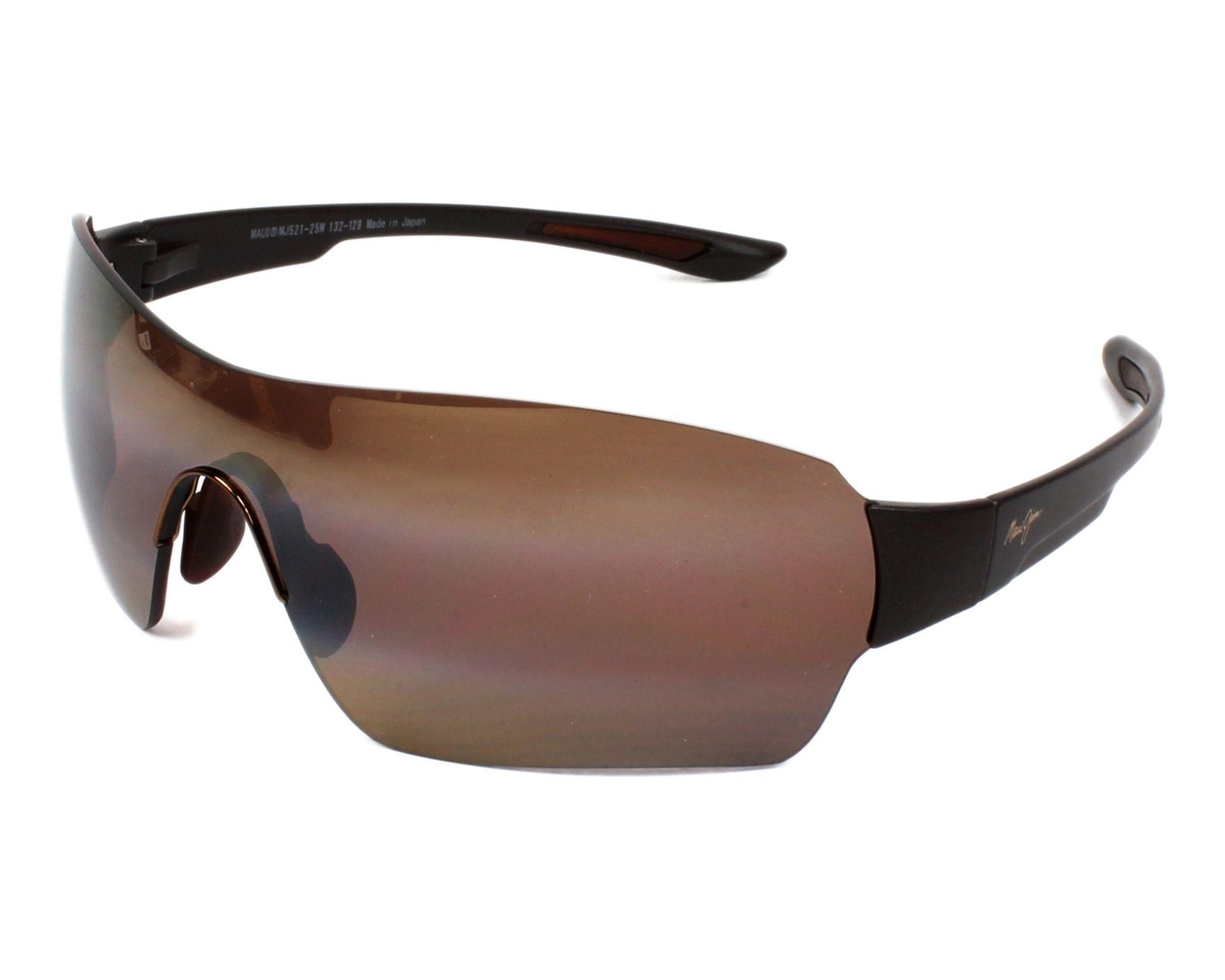 Maui Jim Night Dive H521-25M Matte Brown Polarized Sunglasses UV Protection